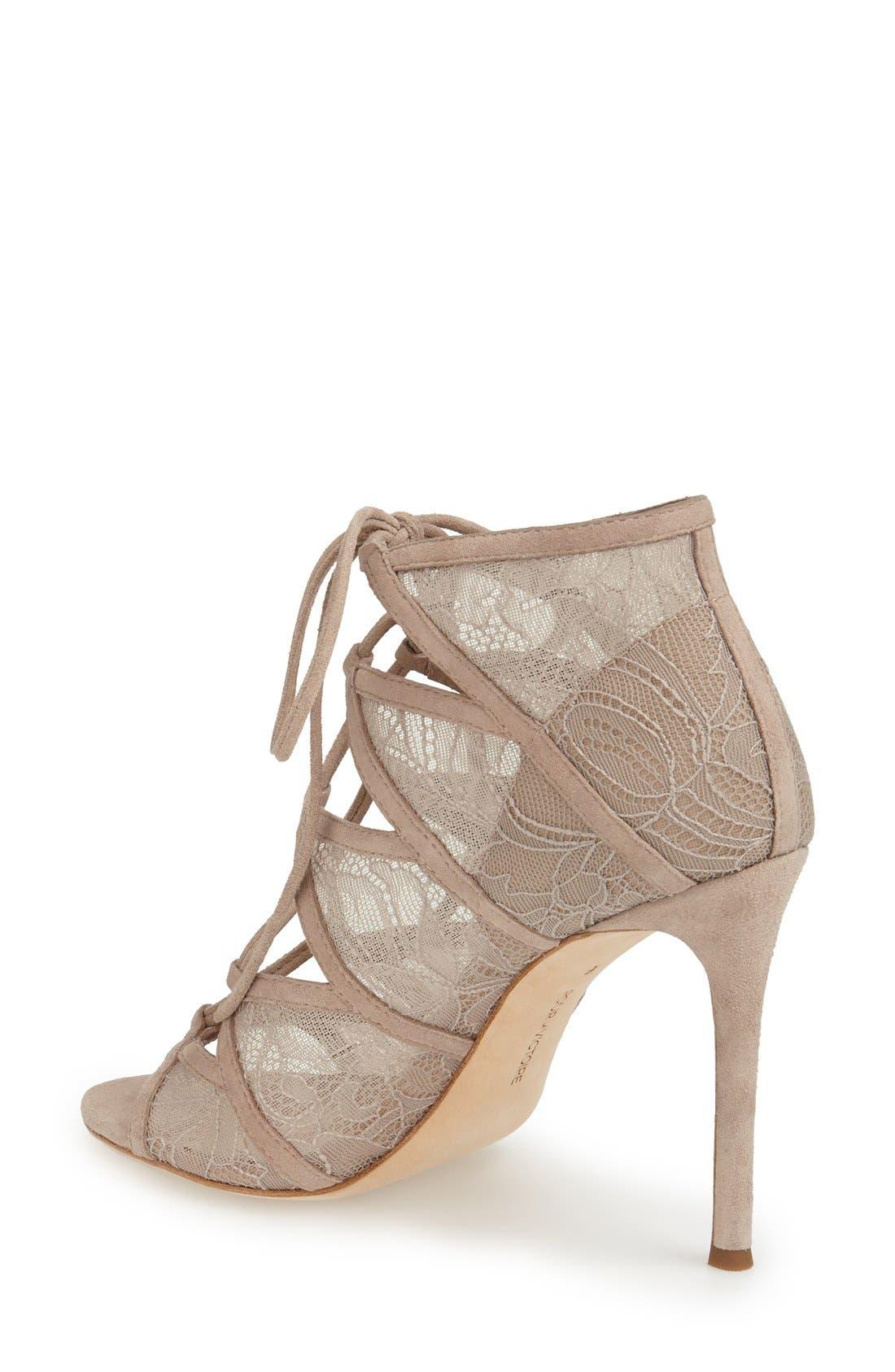 Alternate Image 2  - Pour la Victoire 'Ellery' Lace-Up Sandal (Women)