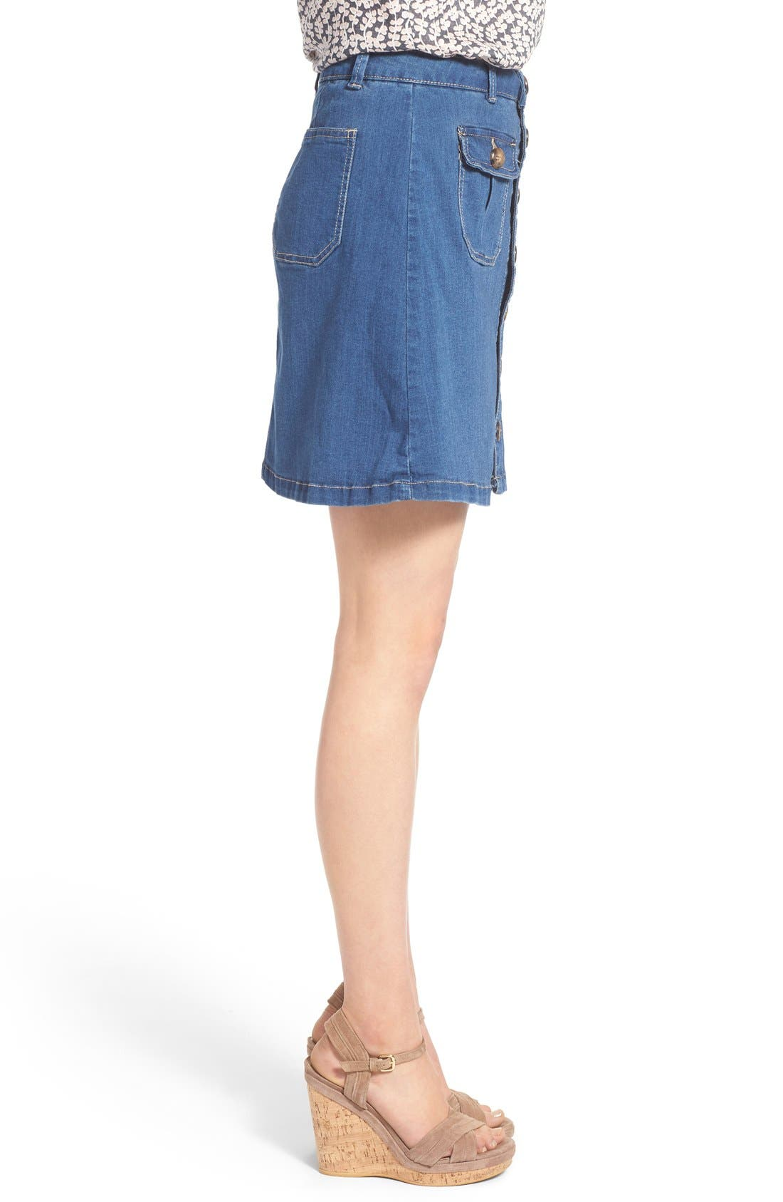 Alternate Image 3  - Wit & Wisdom Button Front Denim Skirt (Nordstrom Exclusive)