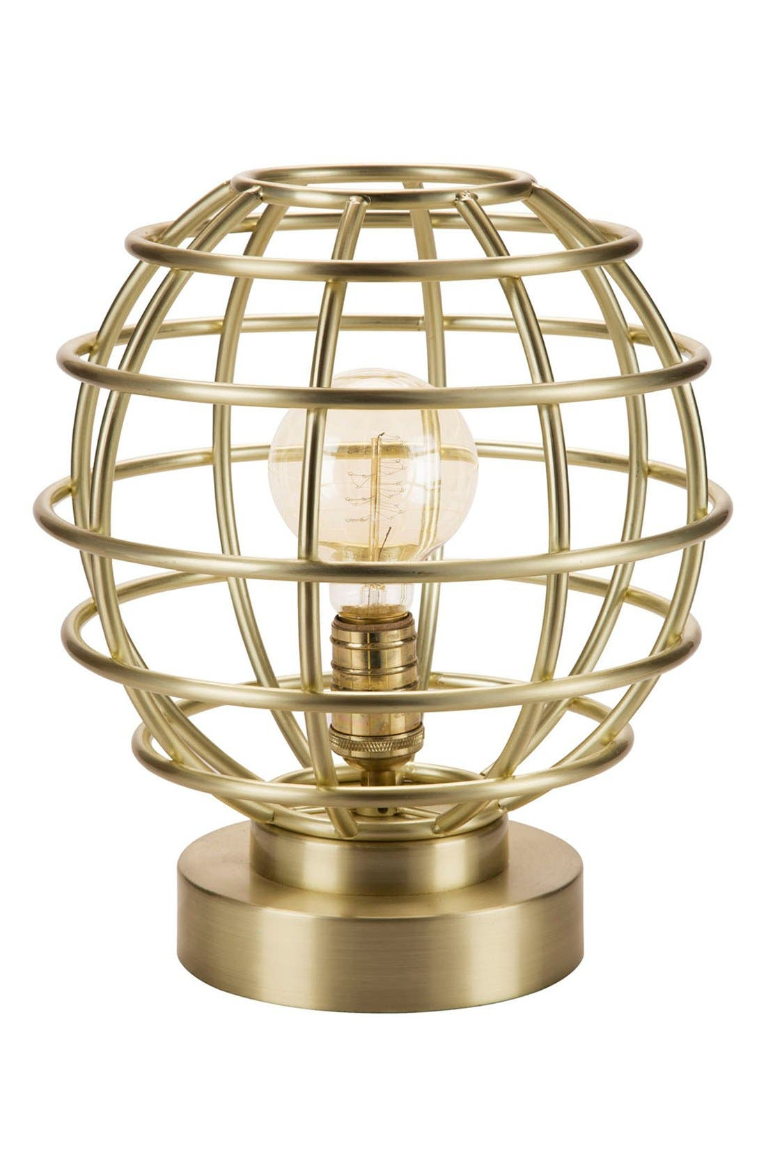 JAlexander Brass Cage Table Lamp,                             Main thumbnail 1, color,                             Gold