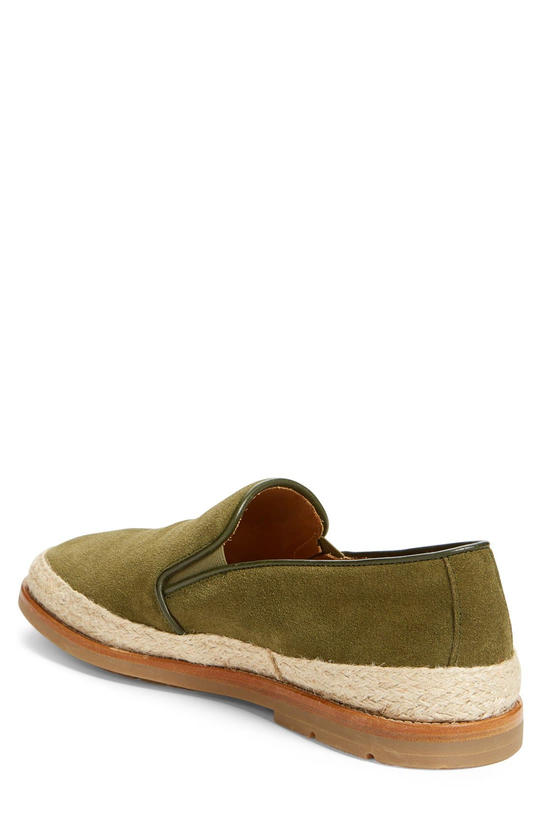 'Zayn' Weatherproof Espadrille,                             Alternate thumbnail 2, color,                             Green Suede