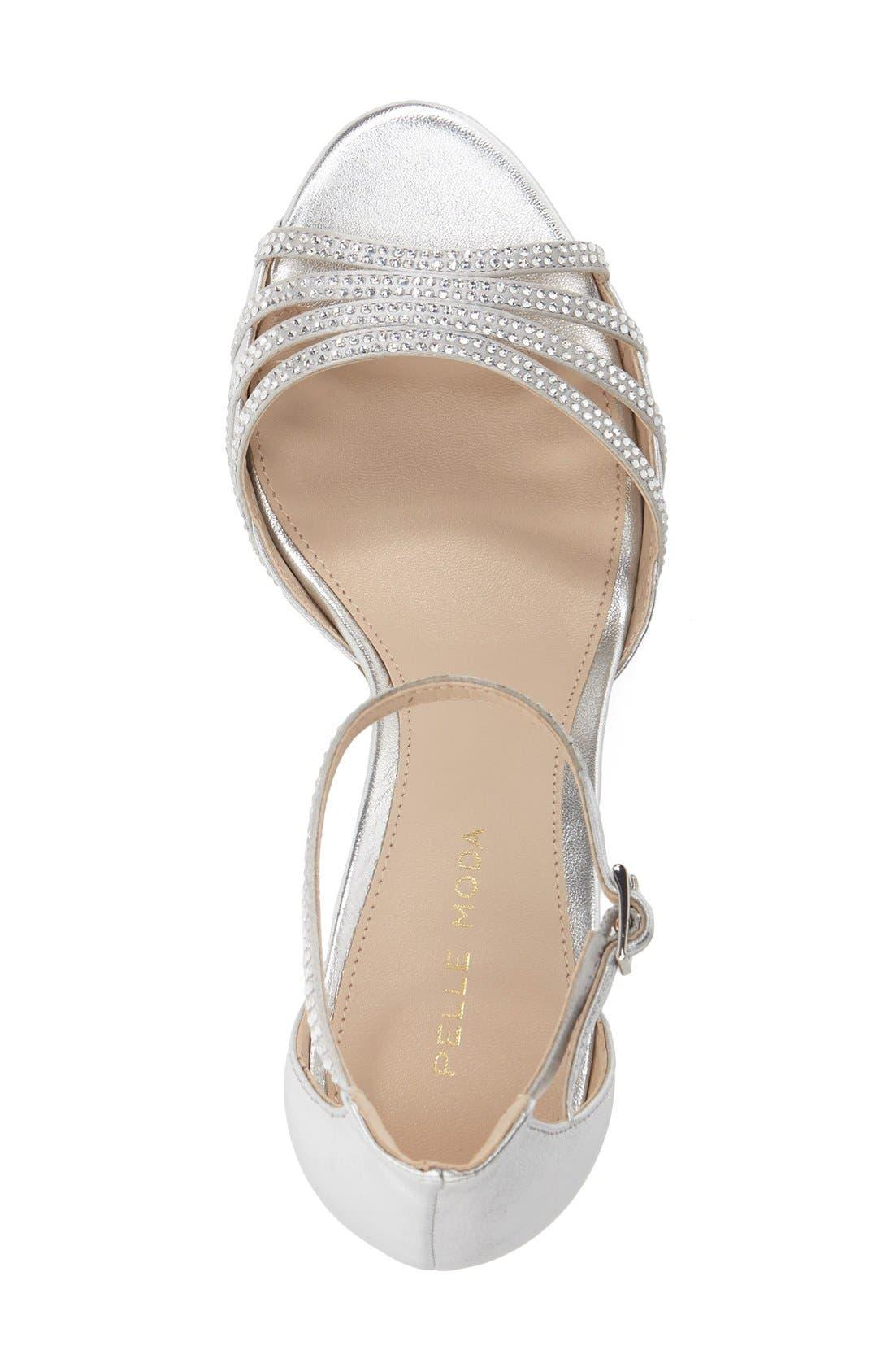 Alternate Image 3  - Pelle Moda 'Isabel' Crystal Embellished d'Orsay Sandal (Women)