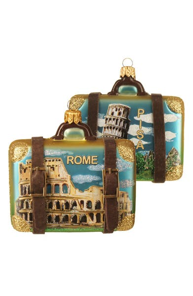 Main Image - Nordstrom at Home Handblown Glass Travel Suitcase Ornament