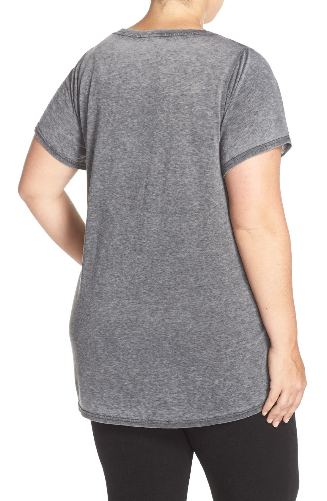 'Gotta Have It' V-Neck Tee,                             Alternate thumbnail 2, color,                             Charcoal