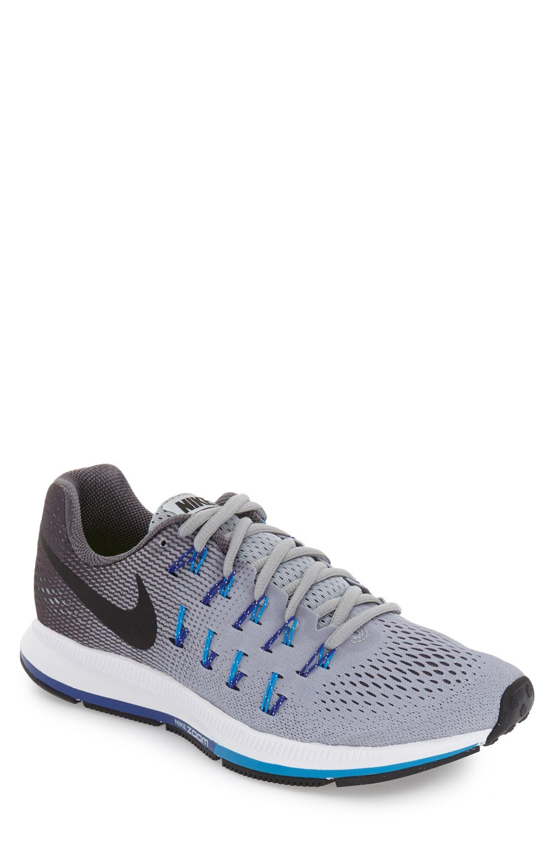 'Air Zoom Pegasus 33' Sneaker,                         Main,                         color, Grey/ Black/ Blue Glow