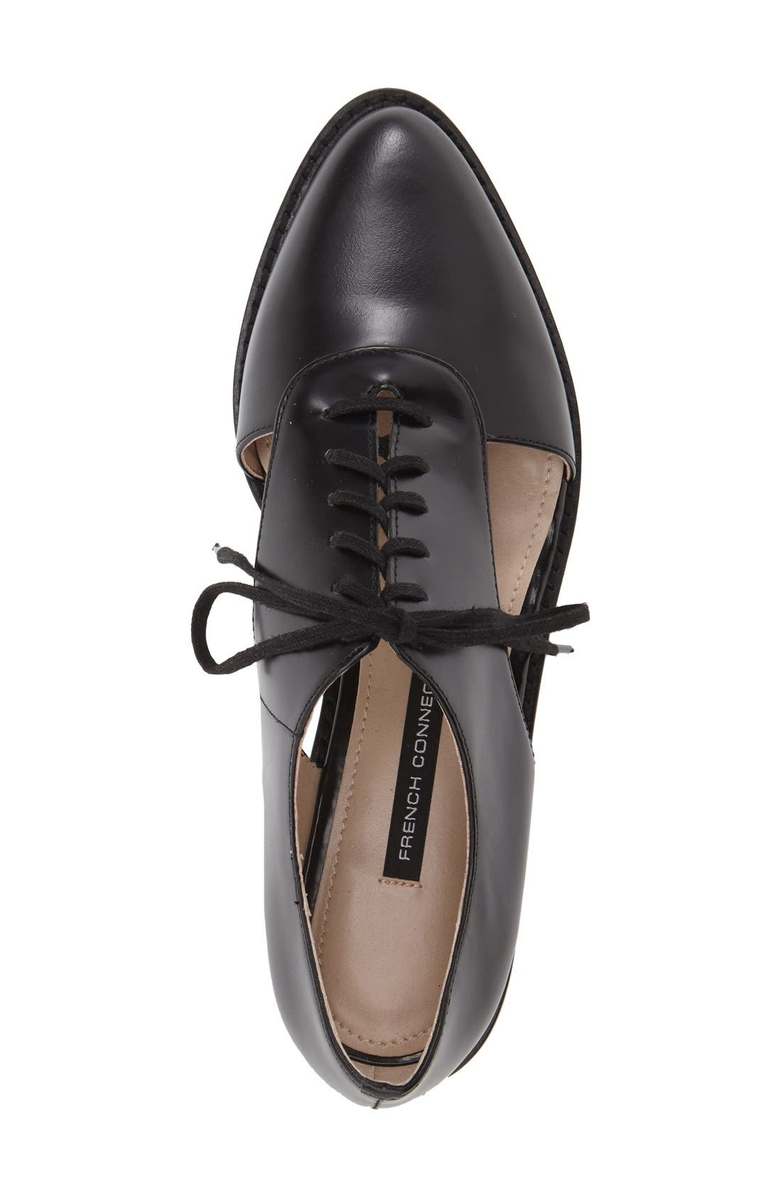 'Mazin' Oxford,                             Alternate thumbnail 3, color,                             Black Leather