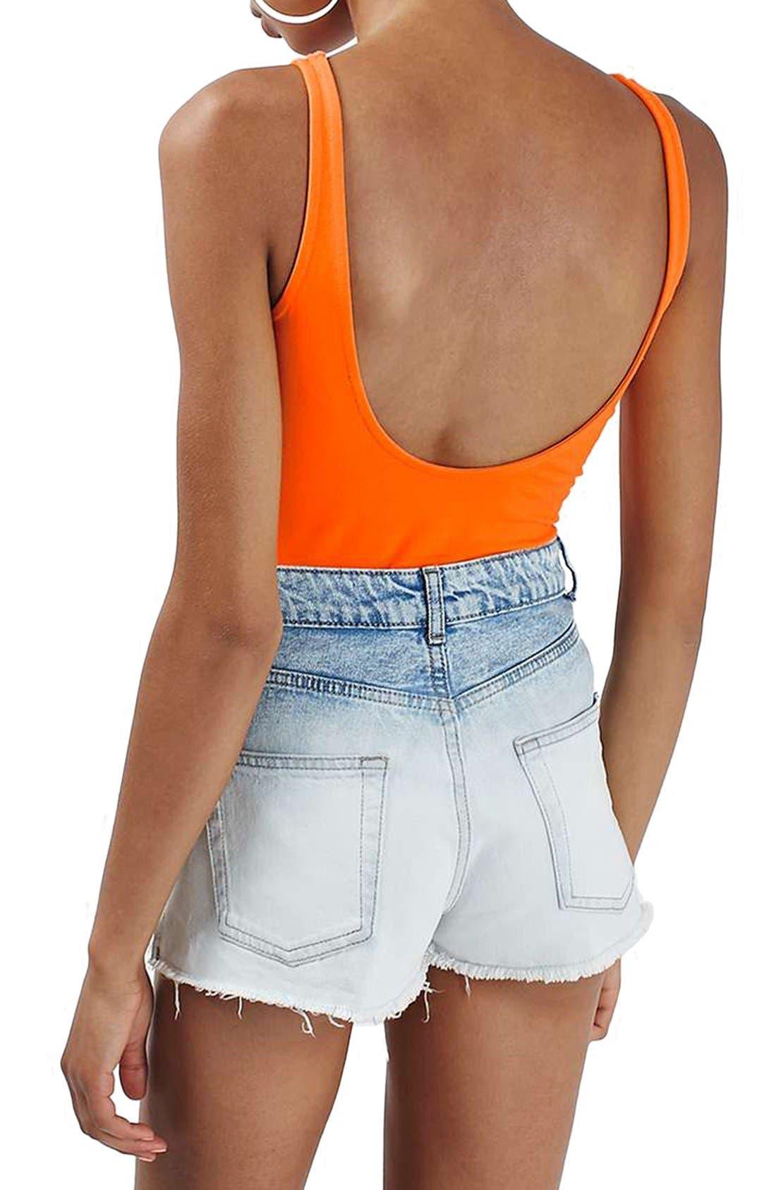 Alternate Image 2  - Topshop 'Maison Pacifique' Graphic Scoop Neck Bodysuit