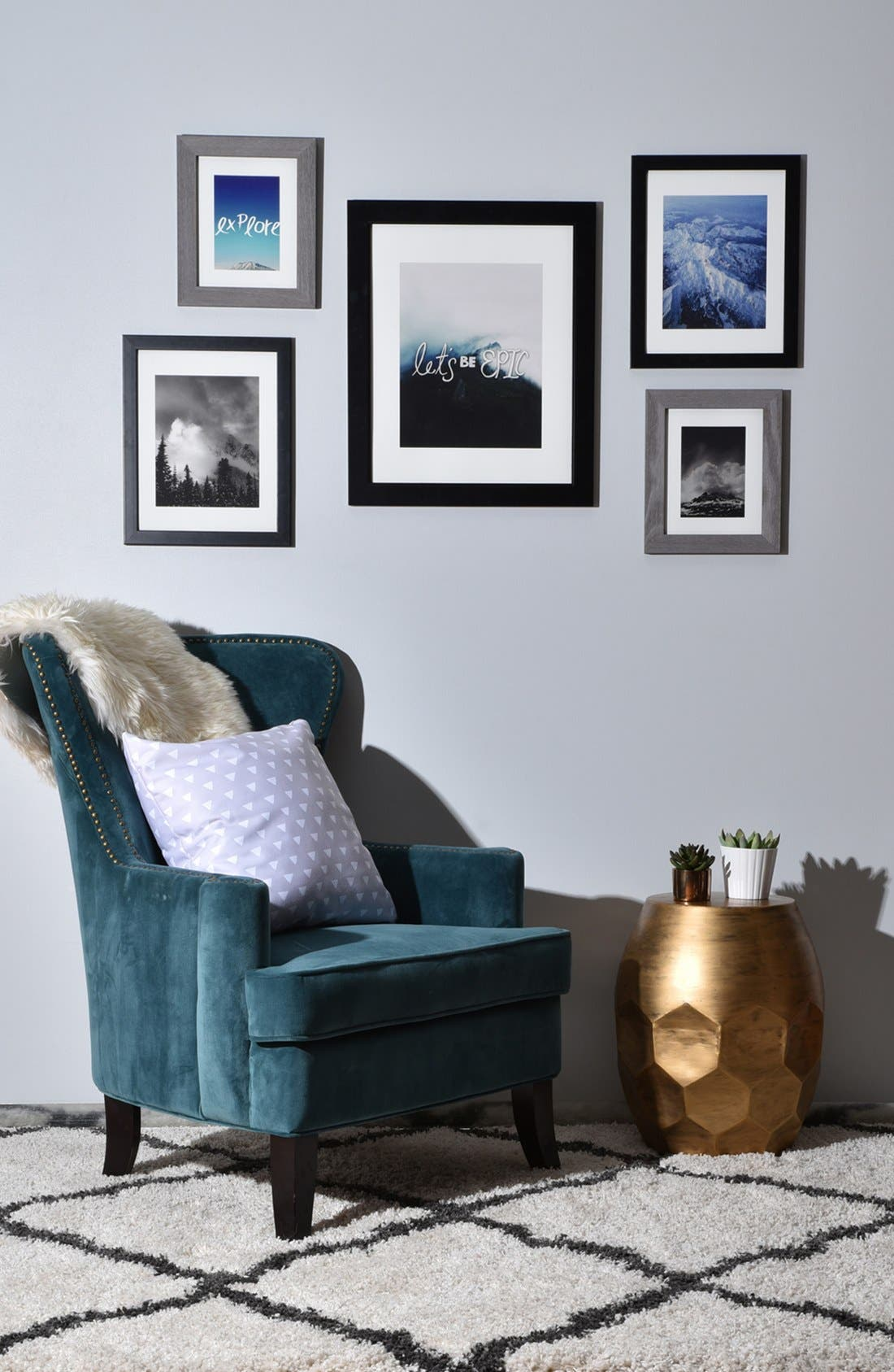 'Let's Be Epic' Wall Art Gallery,                             Alternate thumbnail 2, color,                             White