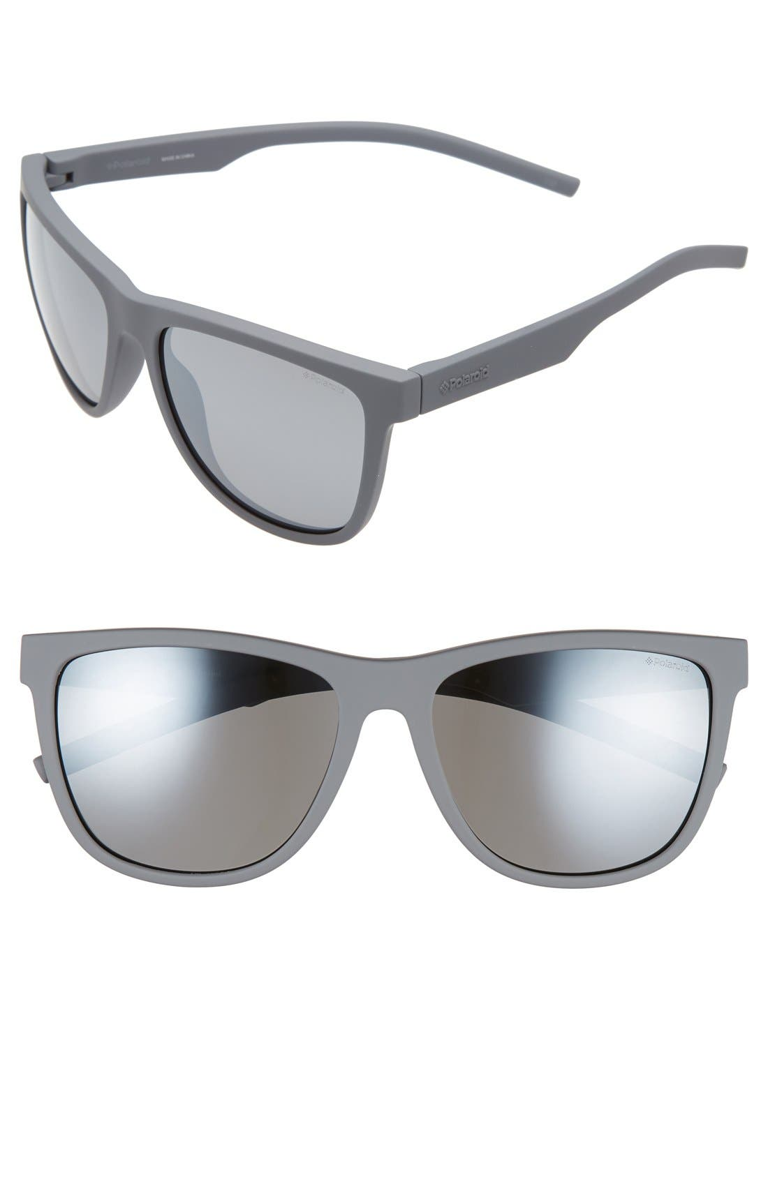 Polaroid Eyewear 56mm Retro Polarized Sunglasses