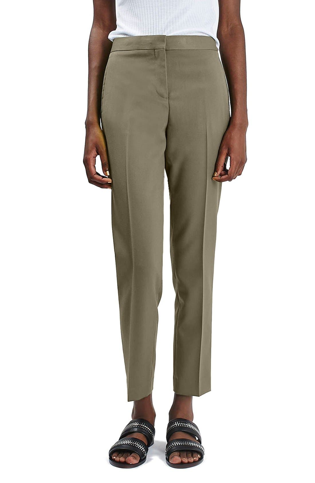 Main Image - Topshop Crop Fitted Trousers