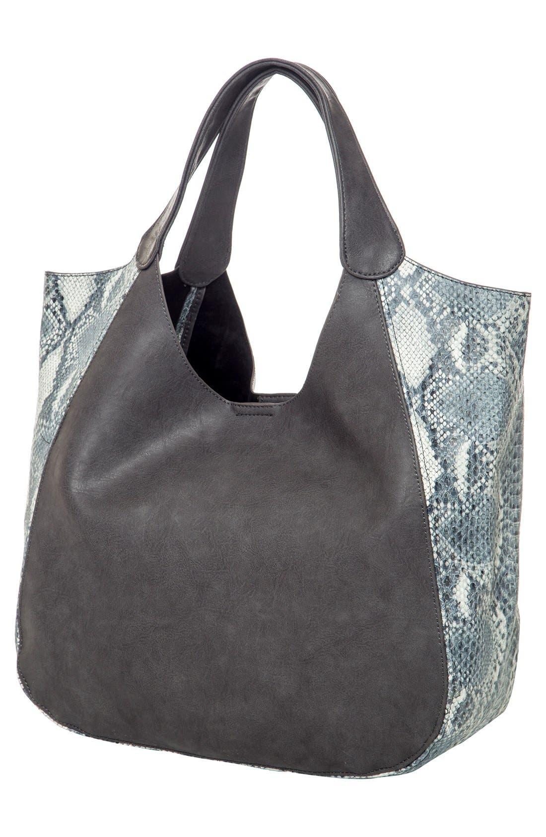 Masterpiece Vegan Leather Tote,                             Alternate thumbnail 2, color,                             Steel