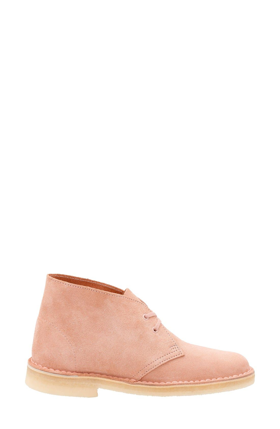'Desert' ChukkaBoot,                             Alternate thumbnail 3, color,                             Dusty Pink Suede