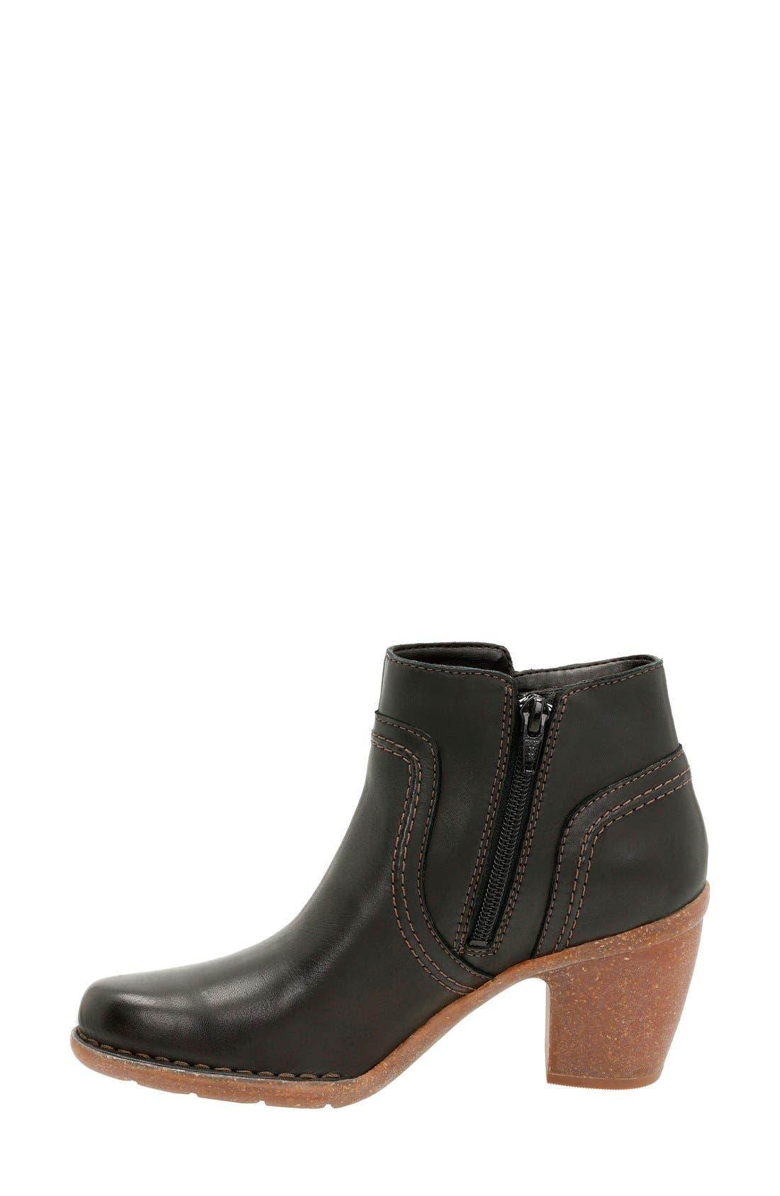 'Carleta Paris' Ankle Boot,                             Alternate thumbnail 2, color,                             Black Leather