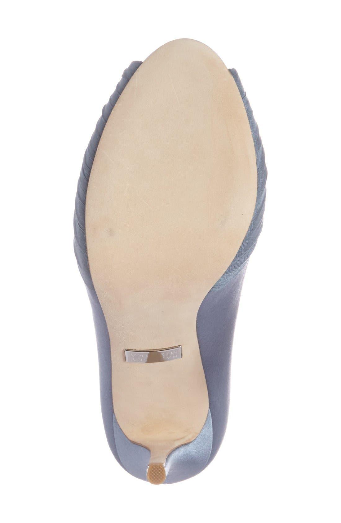 Alternate Image 4  - Badgley Mischka 'Desi' Peep Toe Platform Pump (Women)