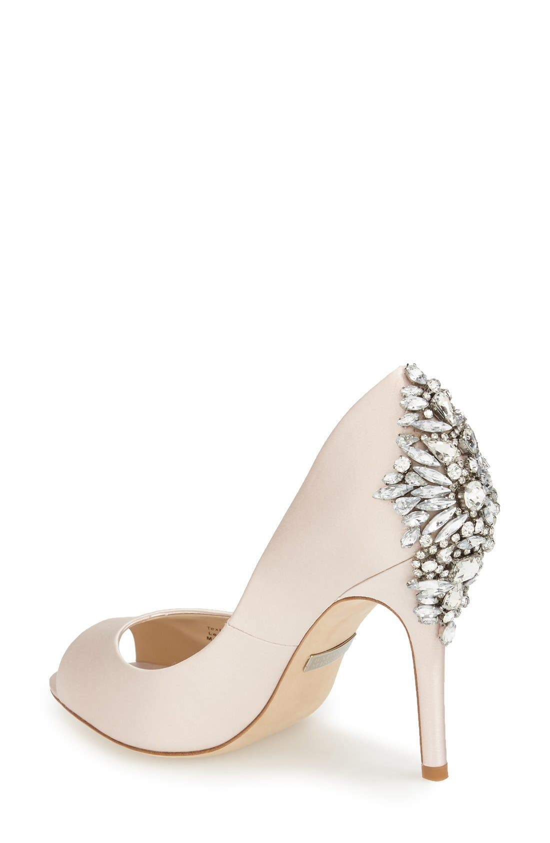 Alternate Image 2  - Badgley Mischka 'Nilla' Peep Toe Pump (Women)