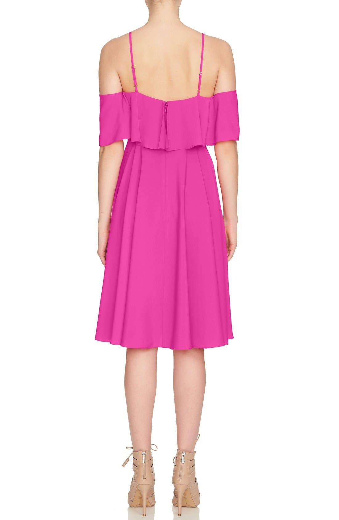 Alternate Image 3  - CeCe 'Jackie' Cold Shoulder Fit & Flare Dress