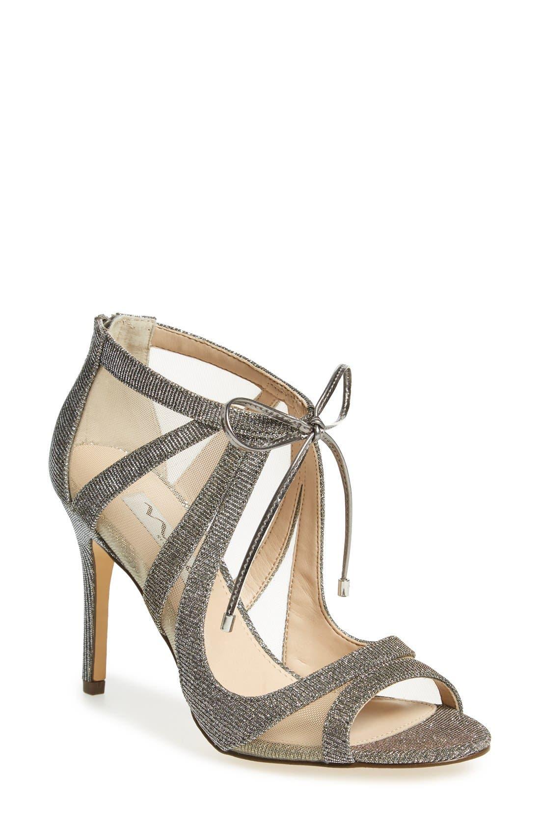 Cherie Illusion Sandal,                             Main thumbnail 1, color,                             Steel/ Silver
