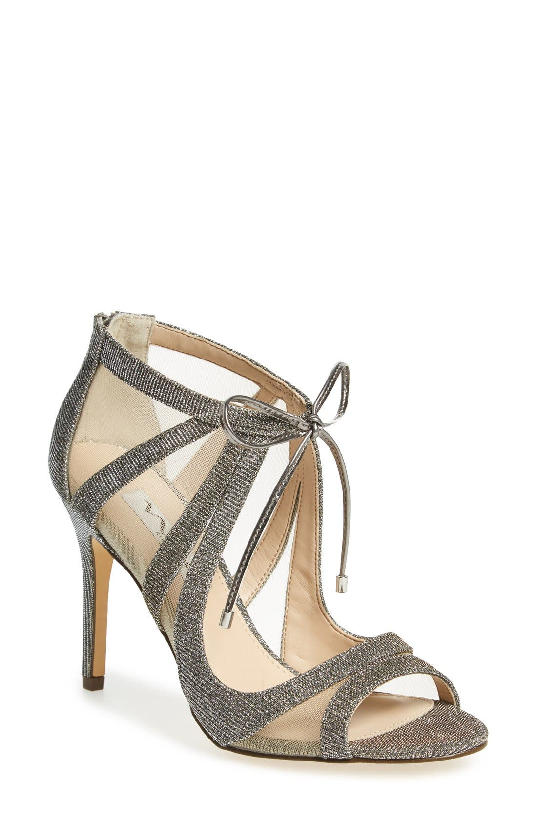 Cherie Illusion Sandal,                         Main,                         color, Steel/ Silver