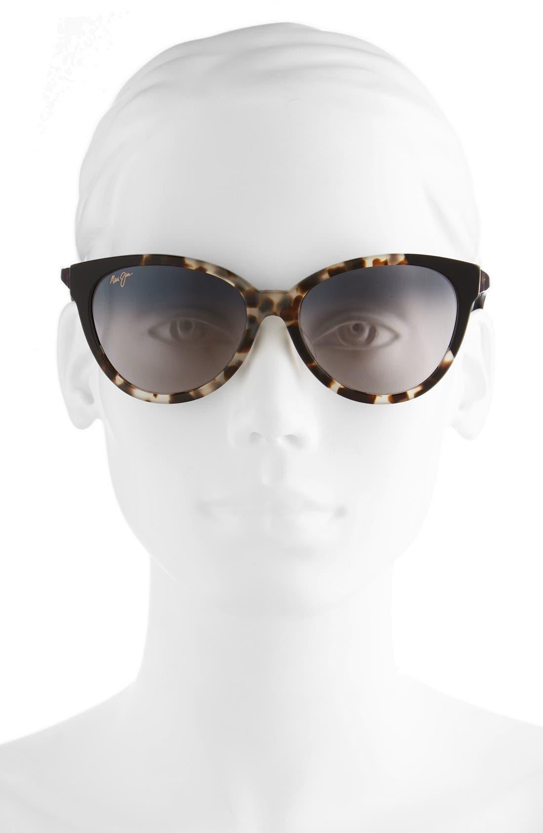 Sunshine 56mm PolarizedPlus2<sup>®</sup> Sunglasses,                             Alternate thumbnail 2, color,                             White Tokyo/ Gloss Black/ Grey