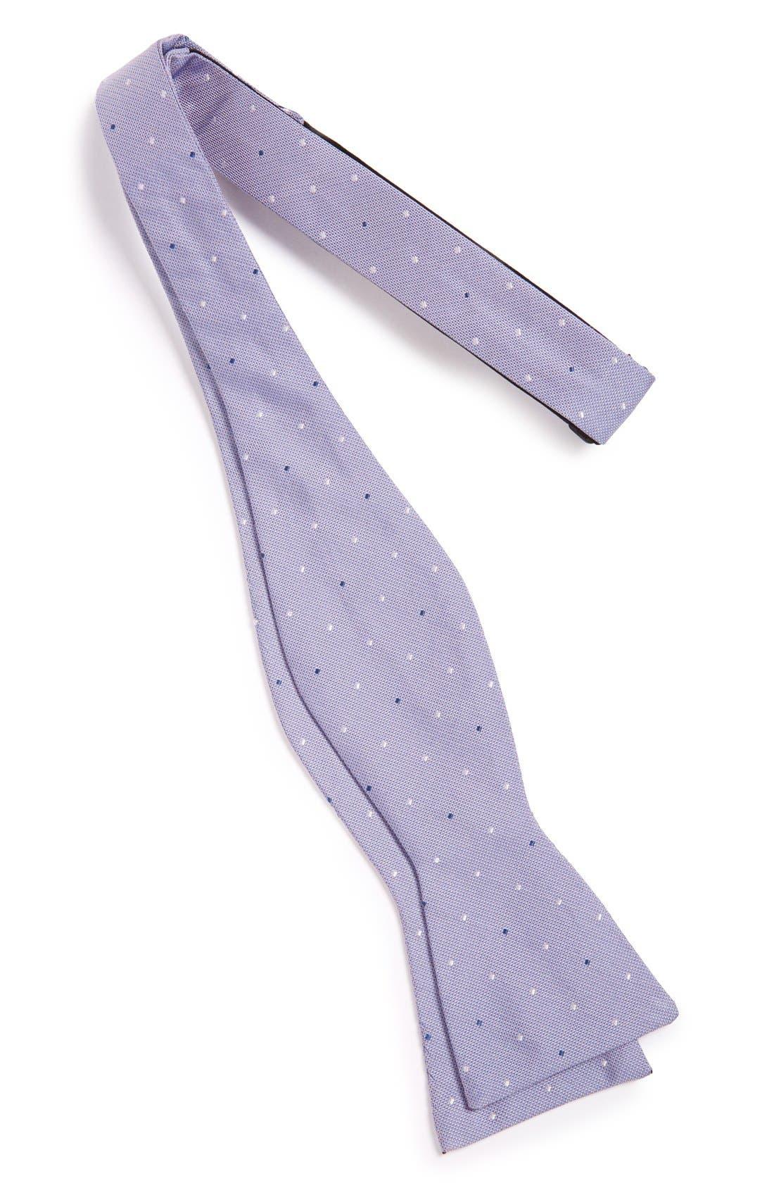 Alternate Image 2  - Calibrate 'City Pin Dot' Texture Silk Bow Tie