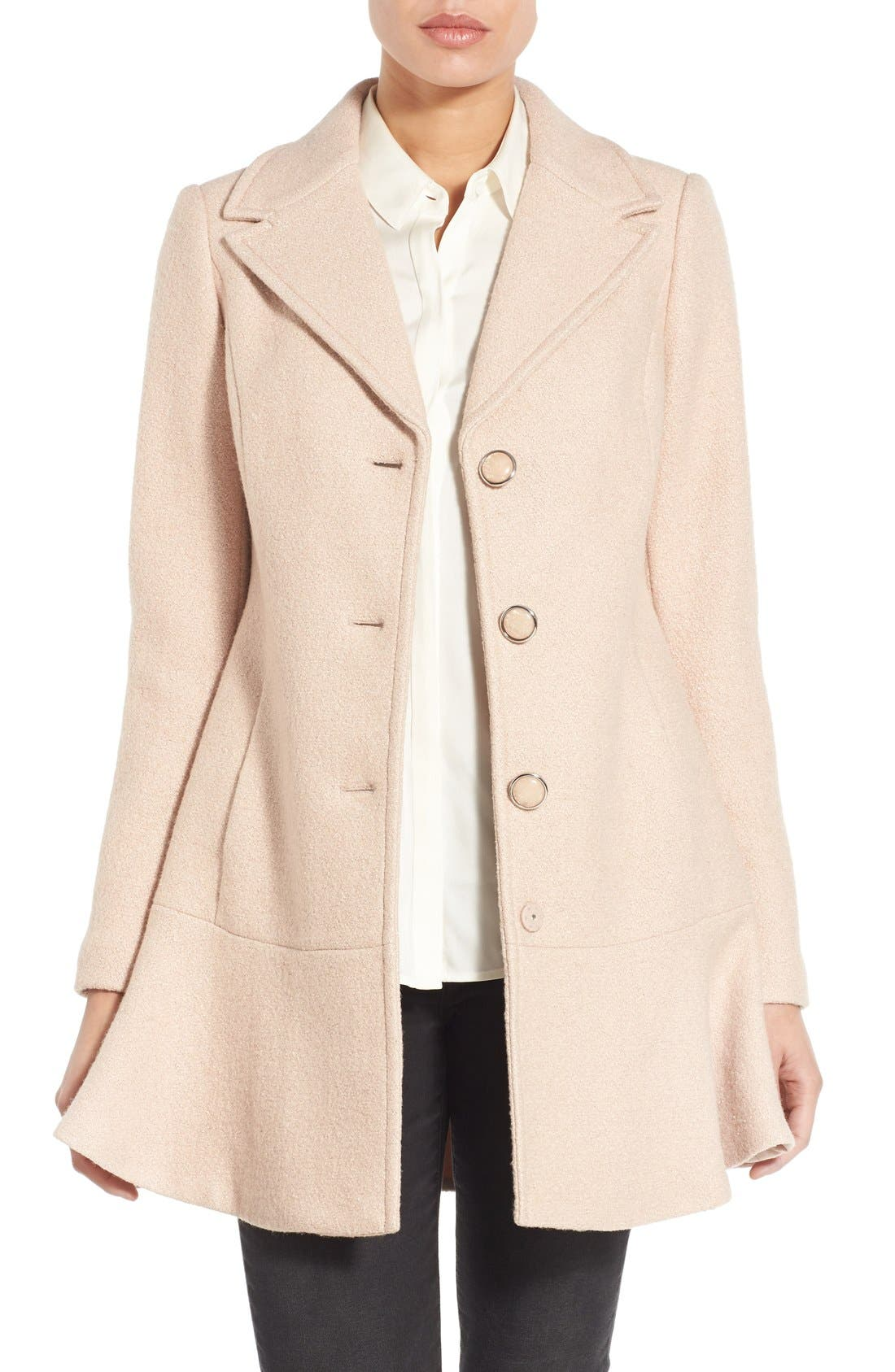 Main Image - kensie Notch Lapel Peplum Coat