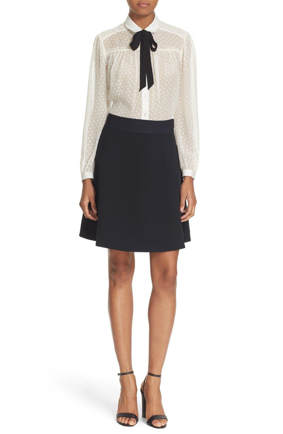 Alternate Image 2  - kate spade new york clipped chiffon bow blouse