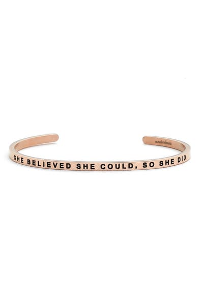 Main Image - MantraBand® 'She Believed She Could' Cuff