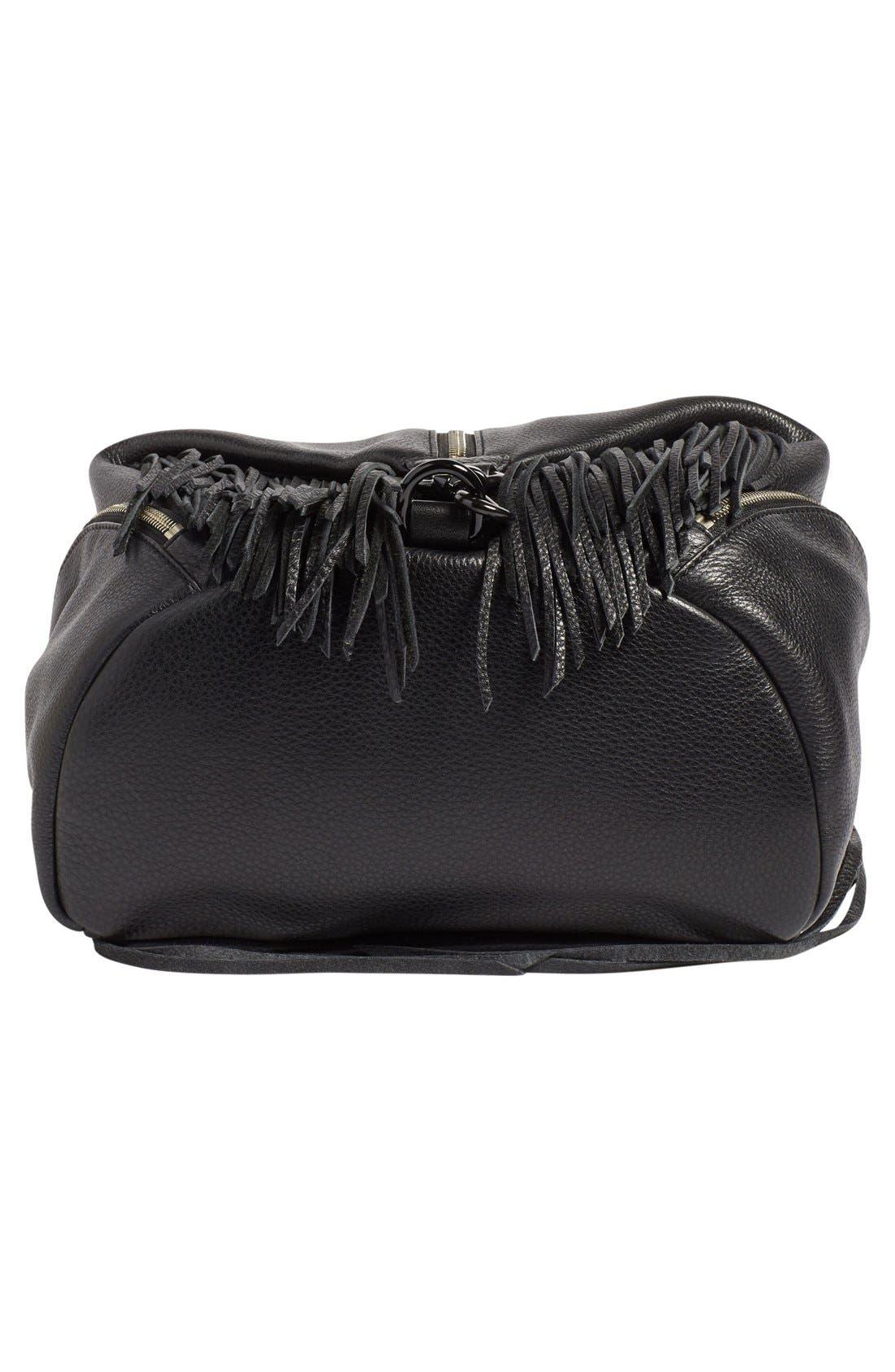 'Fringe Julian' Backpack,                             Alternate thumbnail 6, color,                             Black