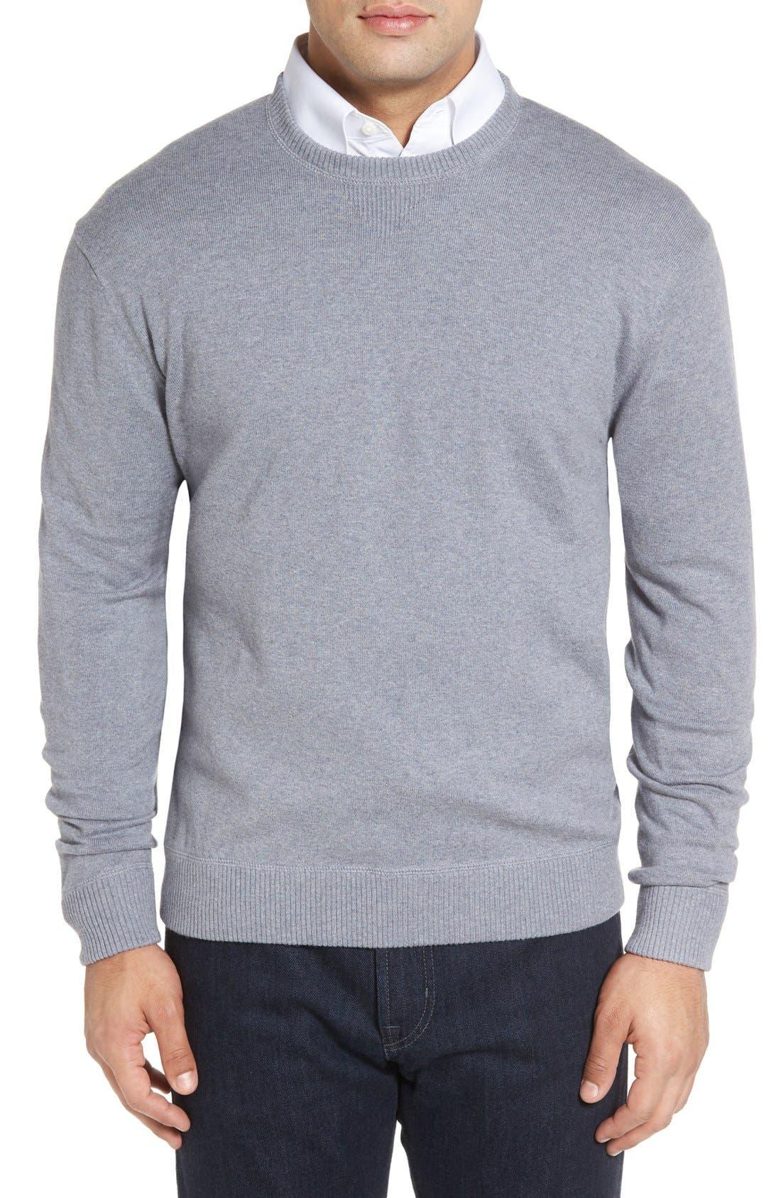 Robert Talbott 'Jersey Sport' Cotton Blend Crewneck Sweater