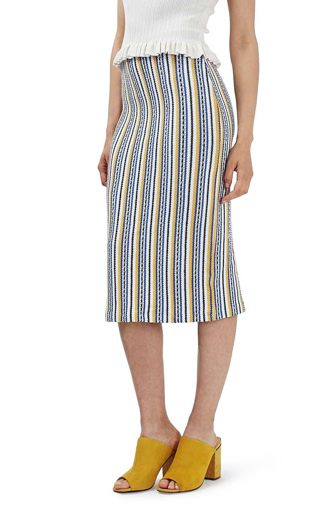 Alternate Image 1 Selected - Topshop 'Seaside' Striped Tube Skirt