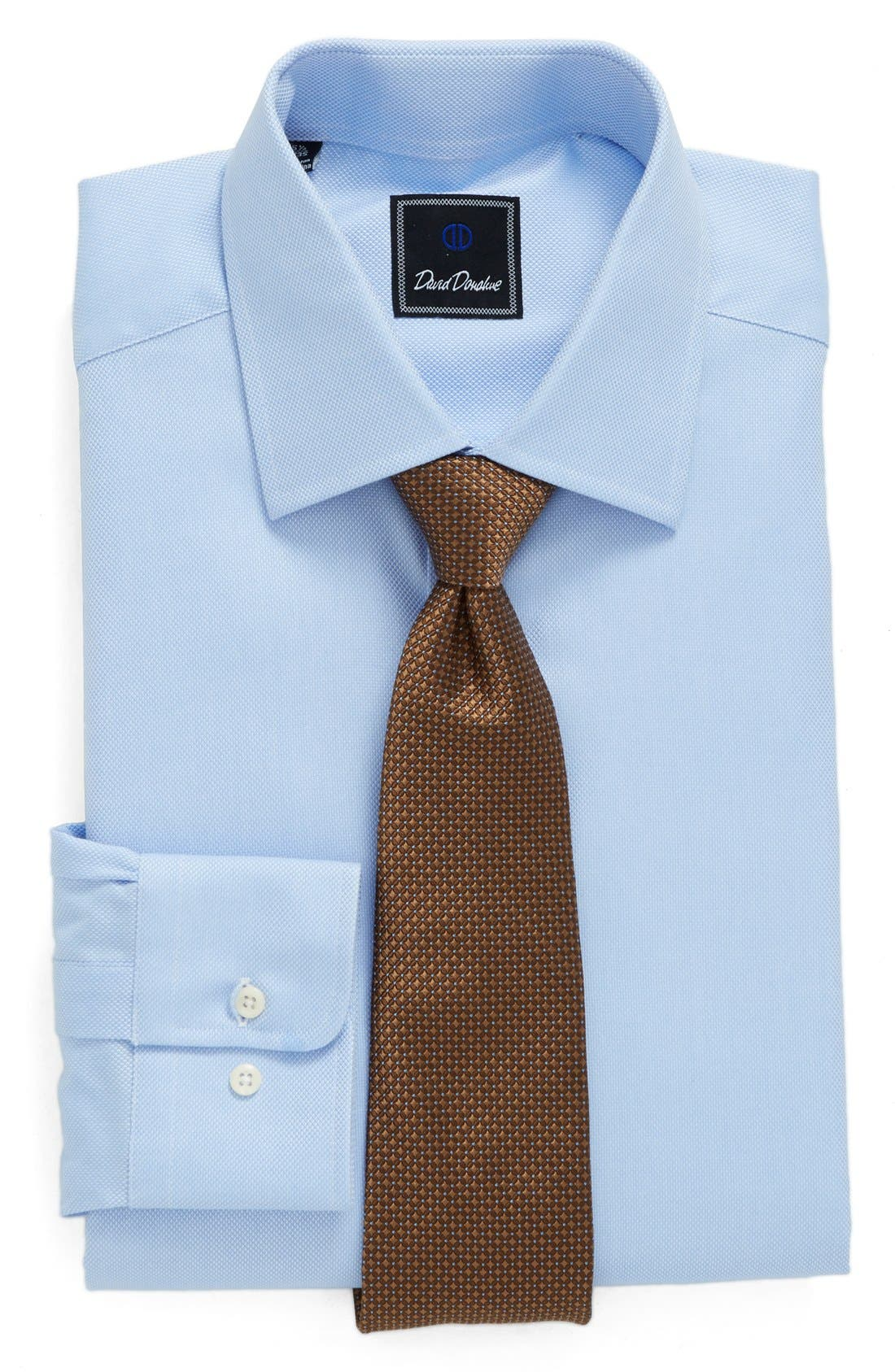 Alternate Image 6  - David Donahue Regular Fit Oxford Dress Shirt