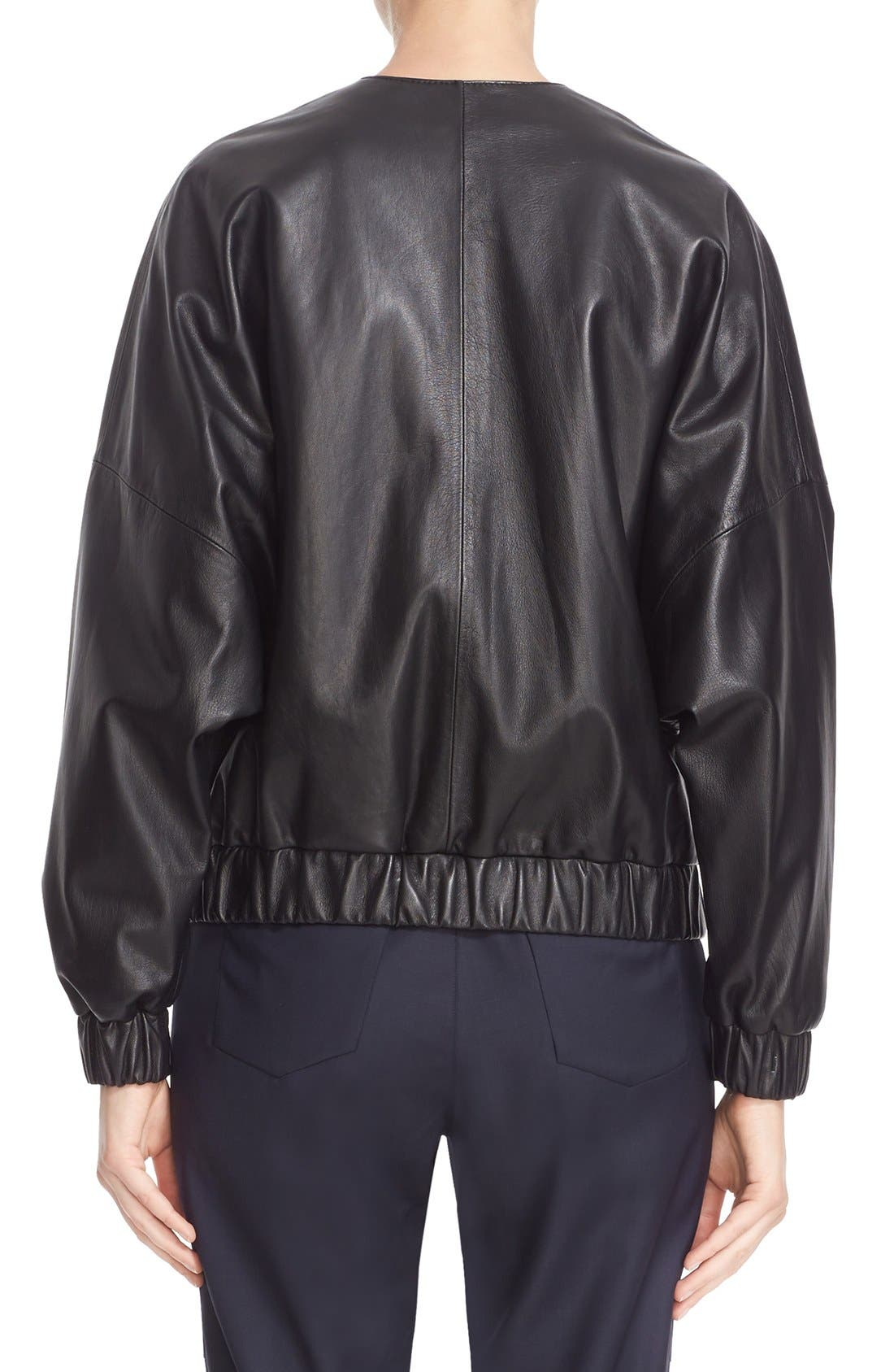 Alternate Image 2  - Colovos Leather Bomber Jacket