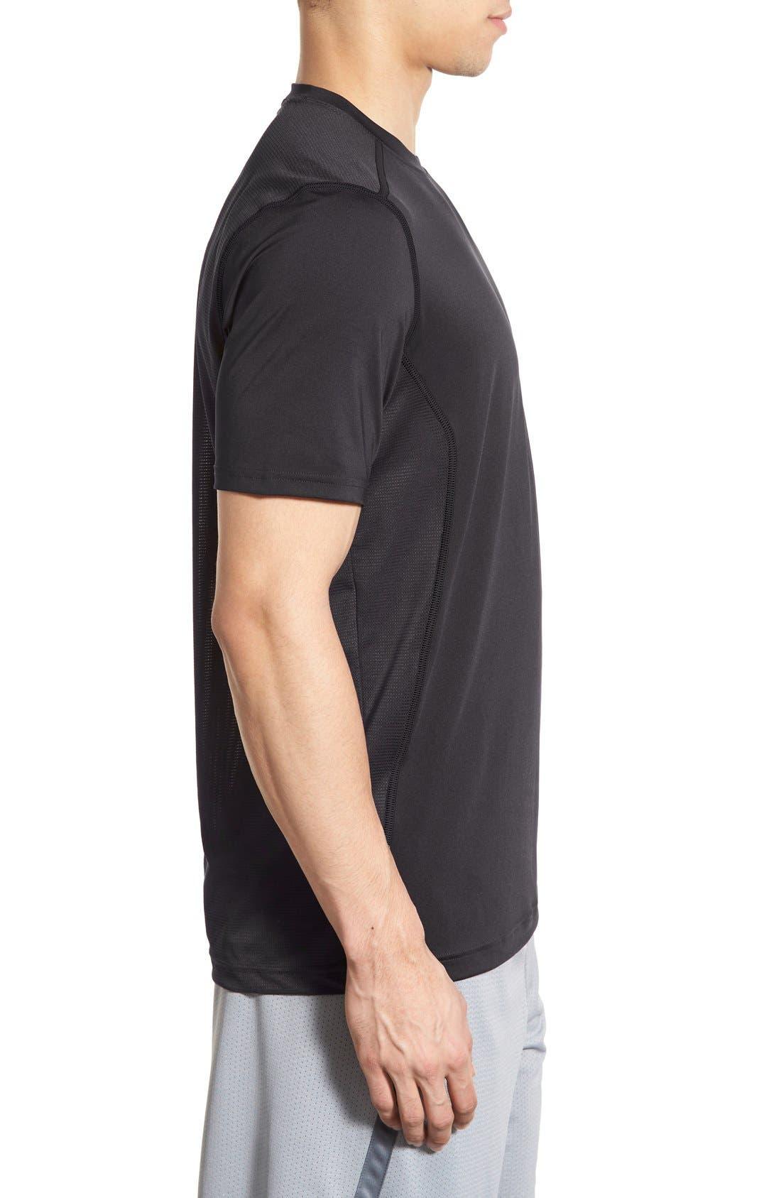 'Raid' HeatGear<sup>®</sup> Training T-Shirt,                             Alternate thumbnail 6, color,                             Black/ Black/ Graphite