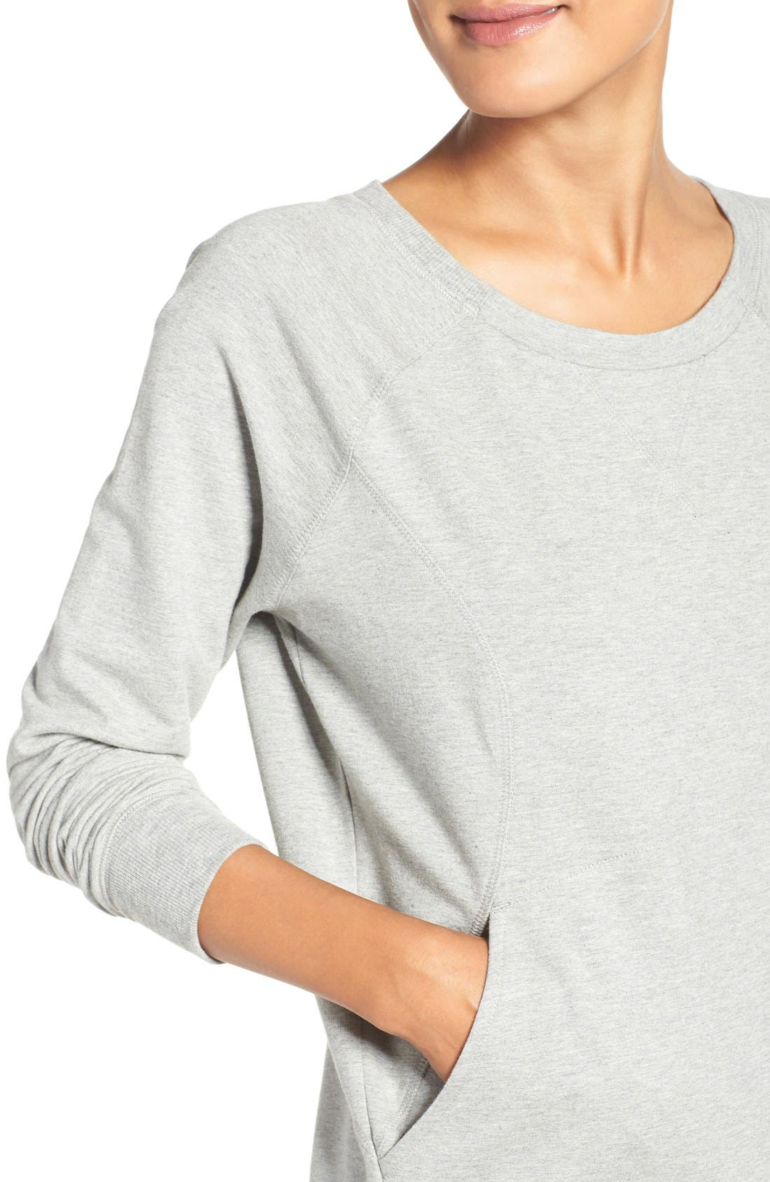 Alternate Image 4  - Zella 'Luxesport' Long Sleeve Sweatshirt