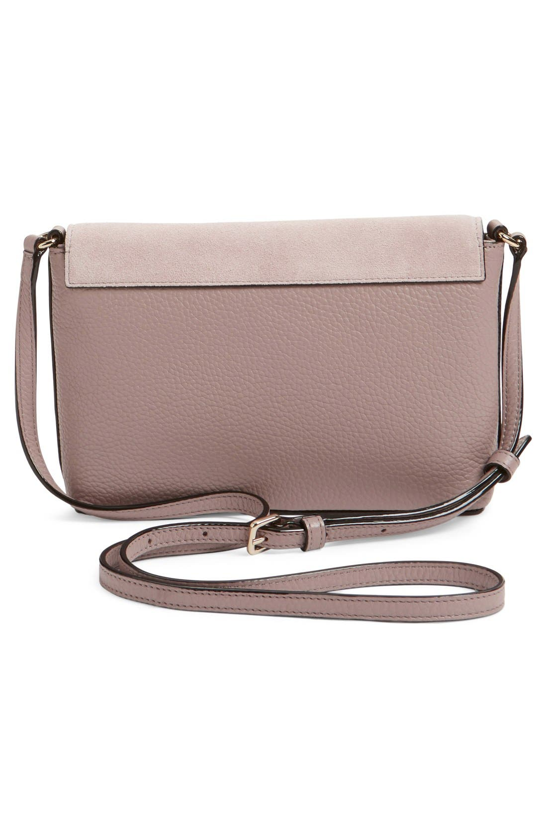 Alternate Image 3  - kate spade new york 'spencer court - large monday' suede & leather envelope crossbody bag (Nordstrom Exclusive)
