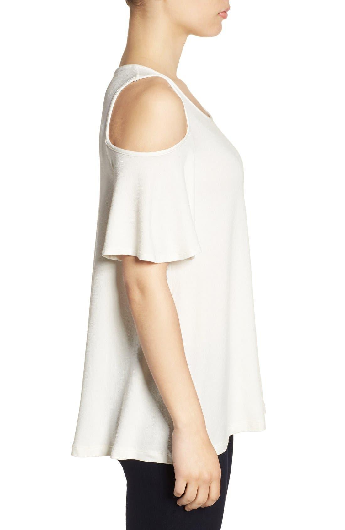 Alternate Image 3  - Bobeau Cold Shoulder Short Sleeve Top