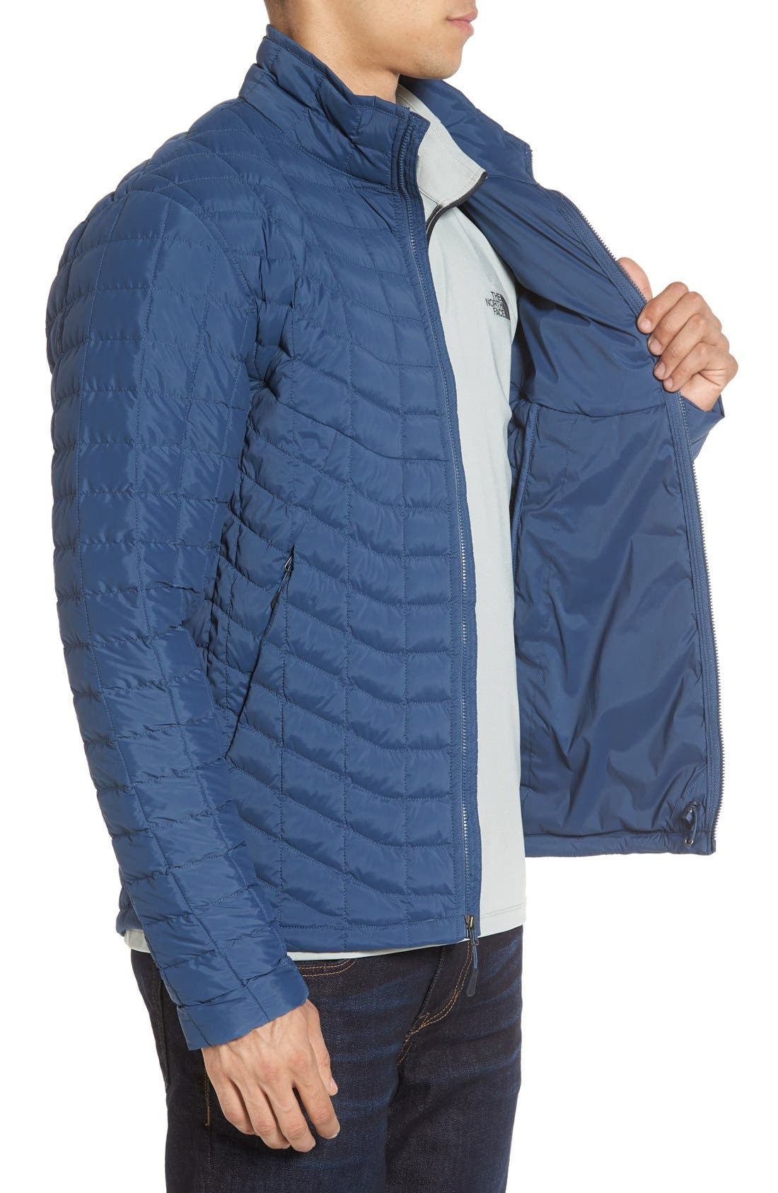 Packable Stretch ThermoBall<sup>™</sup> PrimaLoft<sup>®</sup> Jacket,                             Alternate thumbnail 3, color,                             Shady Blue