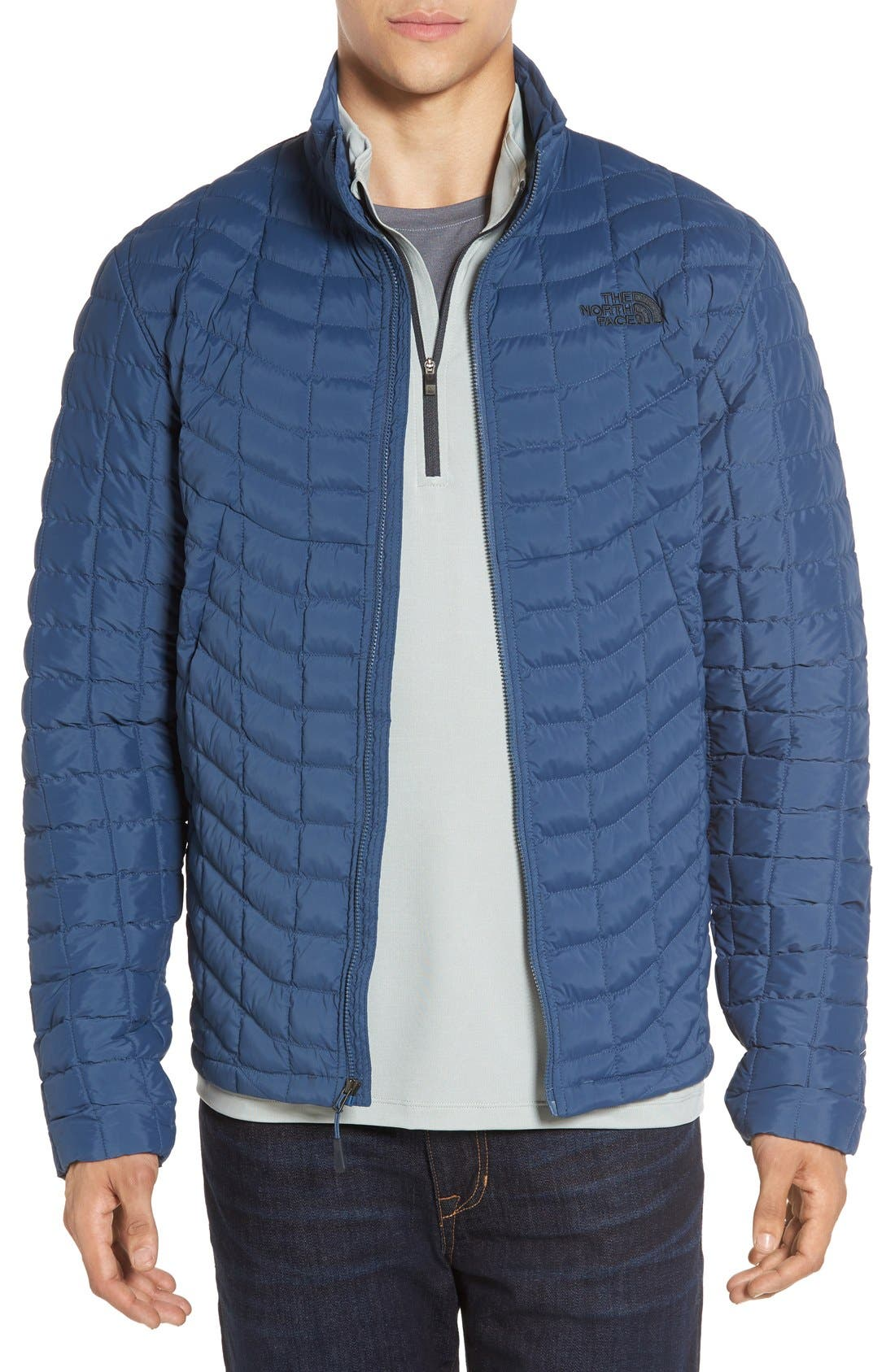 Packable Stretch ThermoBall<sup>™</sup> PrimaLoft<sup>®</sup> Jacket,                         Main,                         color, Shady Blue
