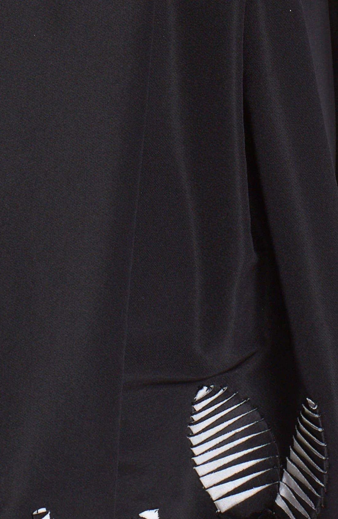 Alternate Image 3  - Carolina Herrera Embellished Two-Tone Scoop Neck Faille Fit & Flare Dress