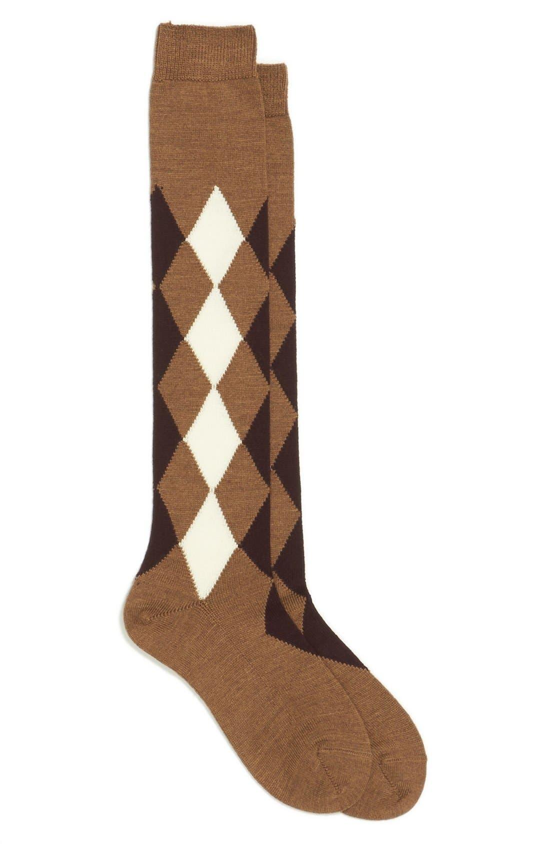 Alternate Image 1 Selected - Maria la Rosa Argyle Knee Socks