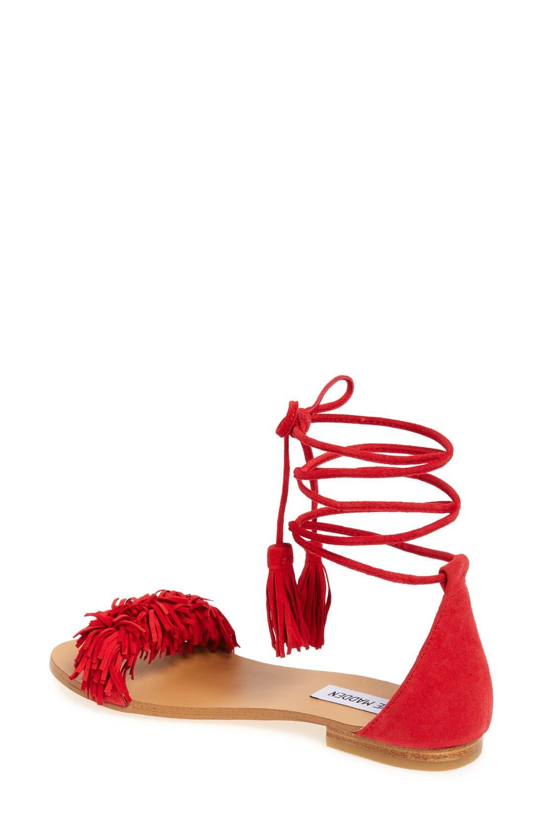 Alternate Image 2  - Steve Madden 'Sweetyy' Lace-Up Sandal (Women)