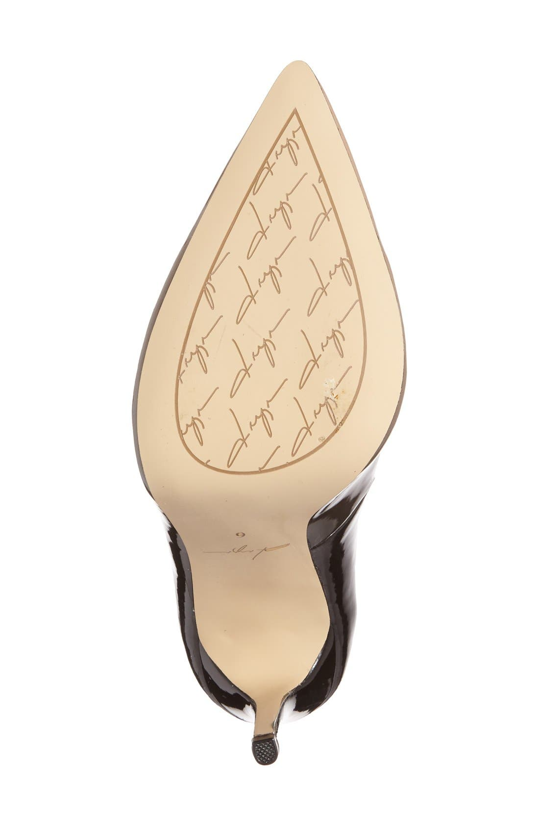 by Zendaya 'Atmore II' Pointy Toe Pump,                             Alternate thumbnail 4, color,                             Black/ Blush Patent
