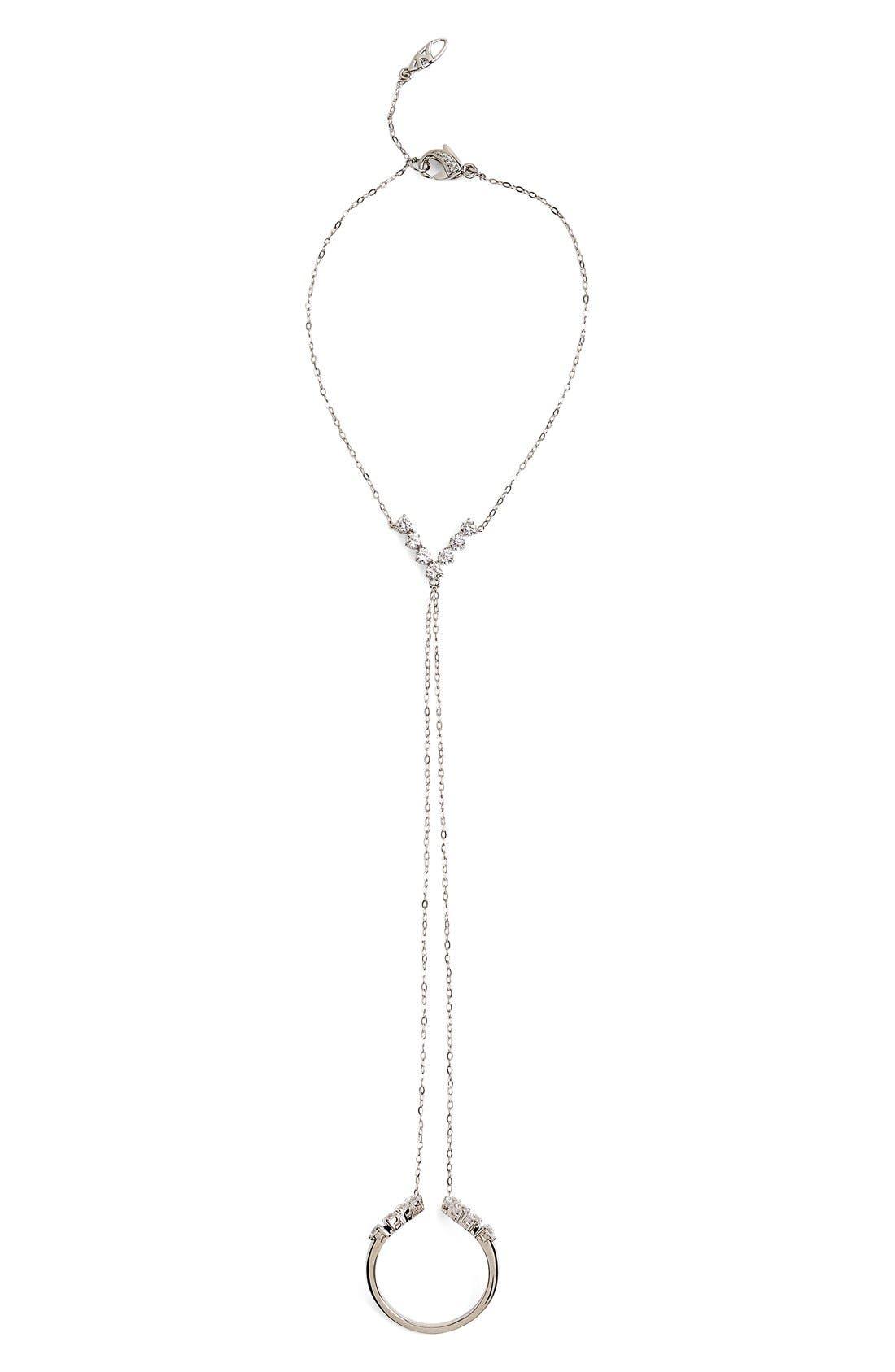 Nadri 'Salome' Cubic Zirconia Hand Chain
