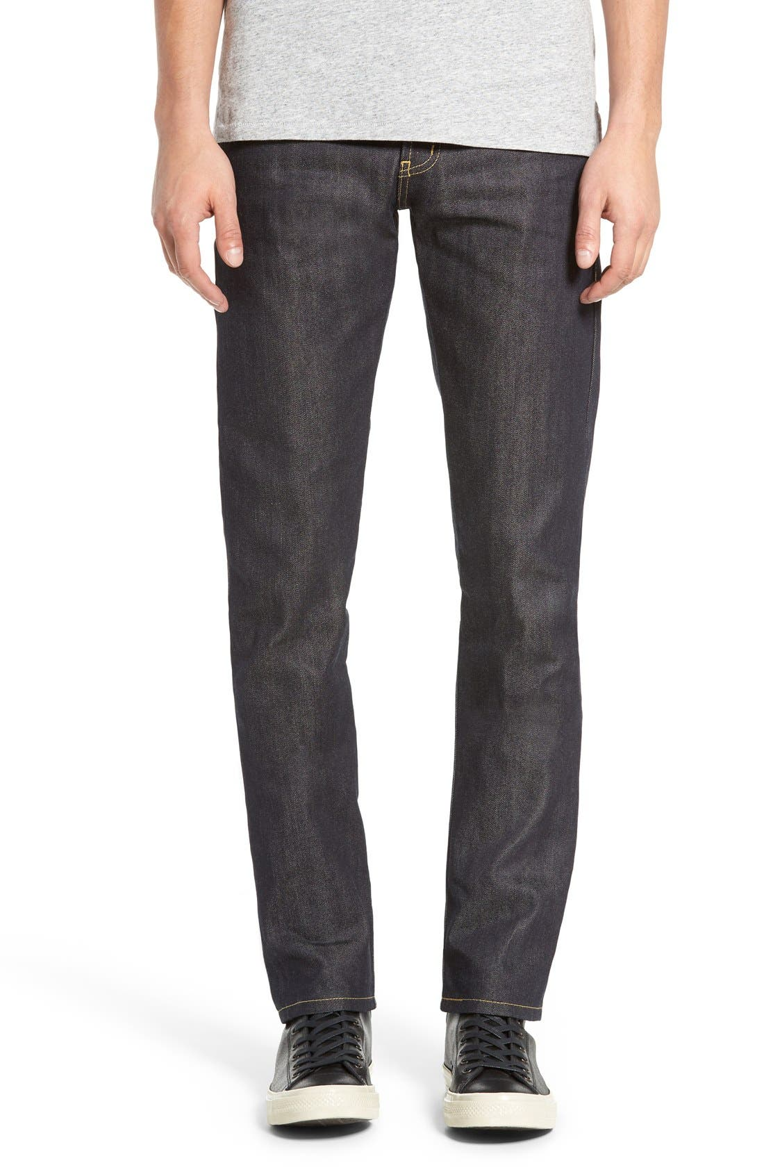 Naked & Famous Denim Super Skinny Guy Raw Skinny Fit Jeans (Kevlar Blend Selvedge)