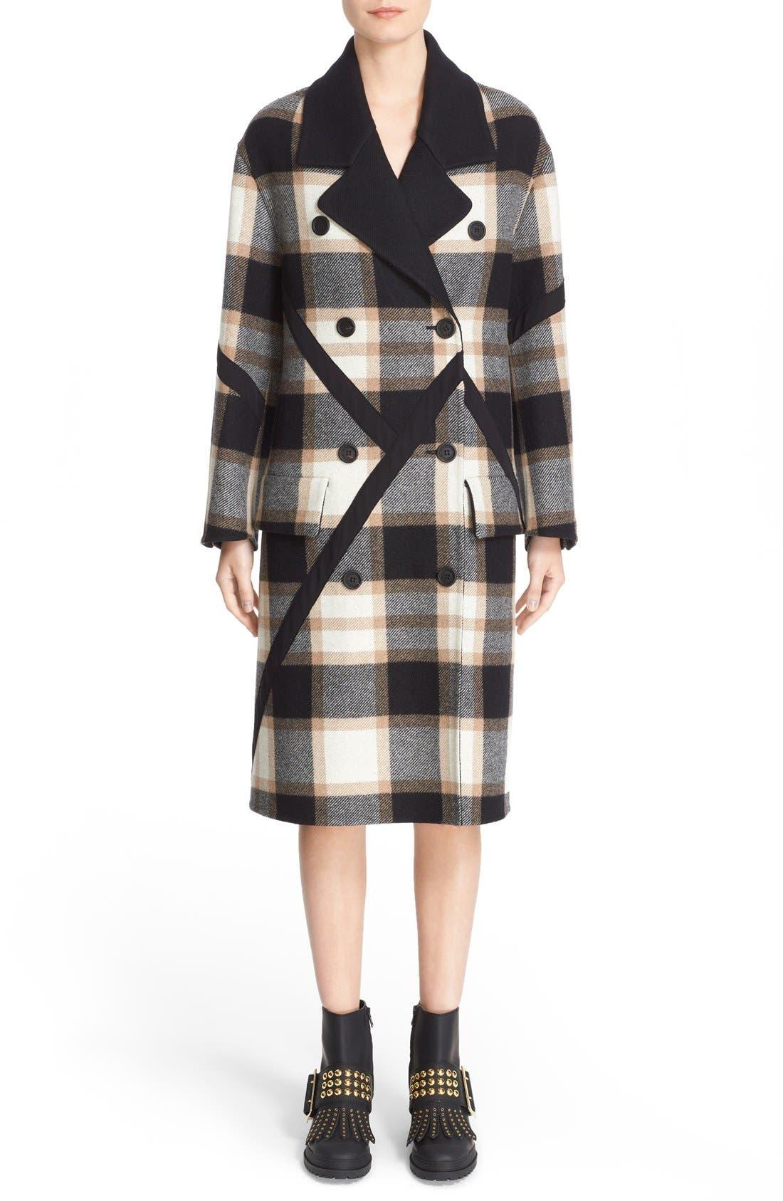Alternate Image 1 Selected - Burberry Tartan Plaid Wool Coat