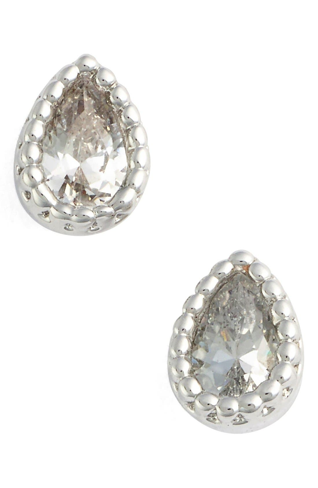 Alternate Image 1 Selected - Jules Smith Micro Teardrop Stud Earrings