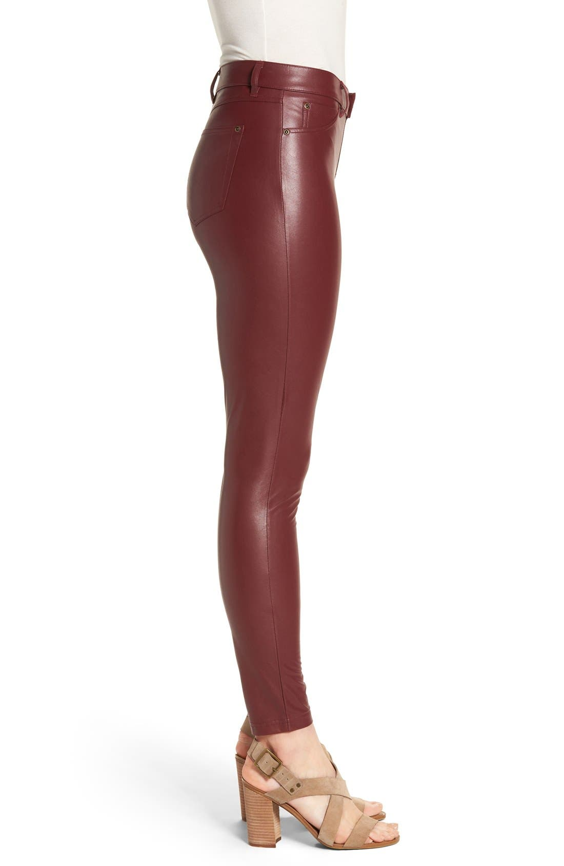 Alternate Image 3  - Hue 'Leatherette' Faux Leather Leggings