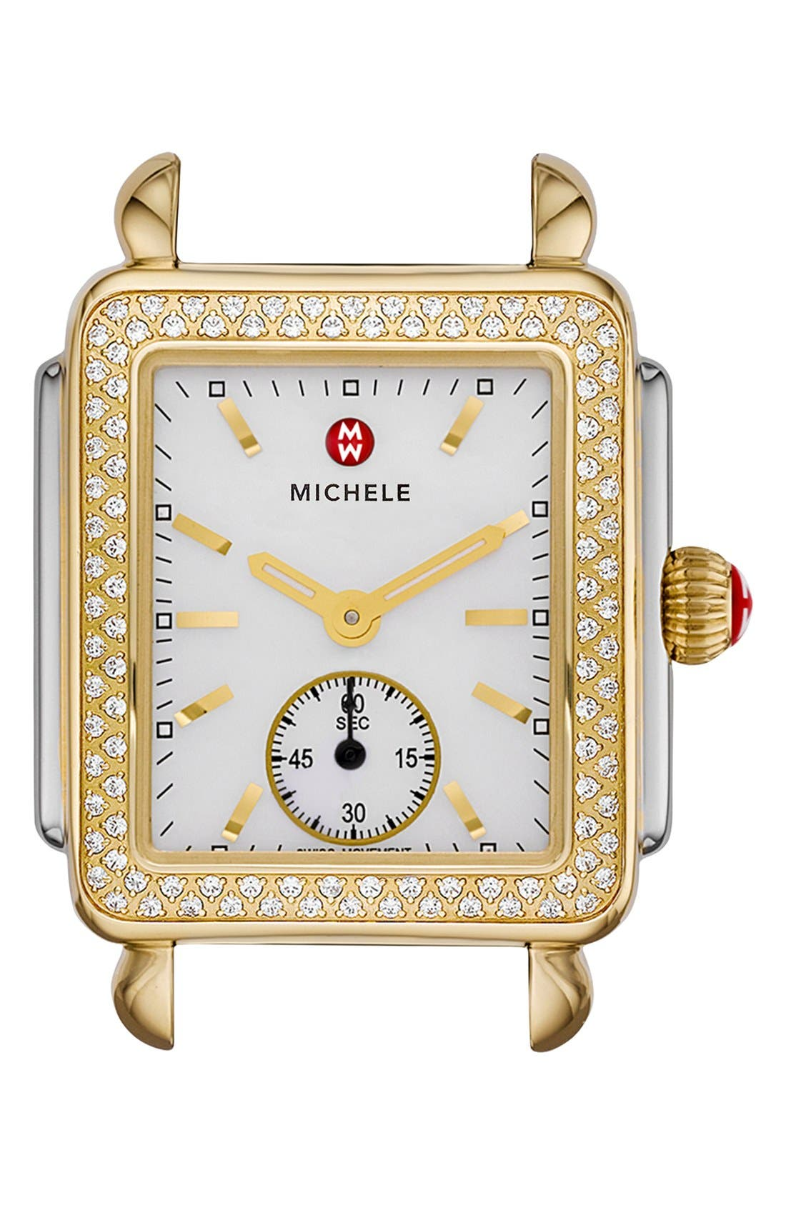 Alternate Image 1 Selected - MICHELE Deco 16 Diamond Two-Tone Watch Head, 29mm x 31mm