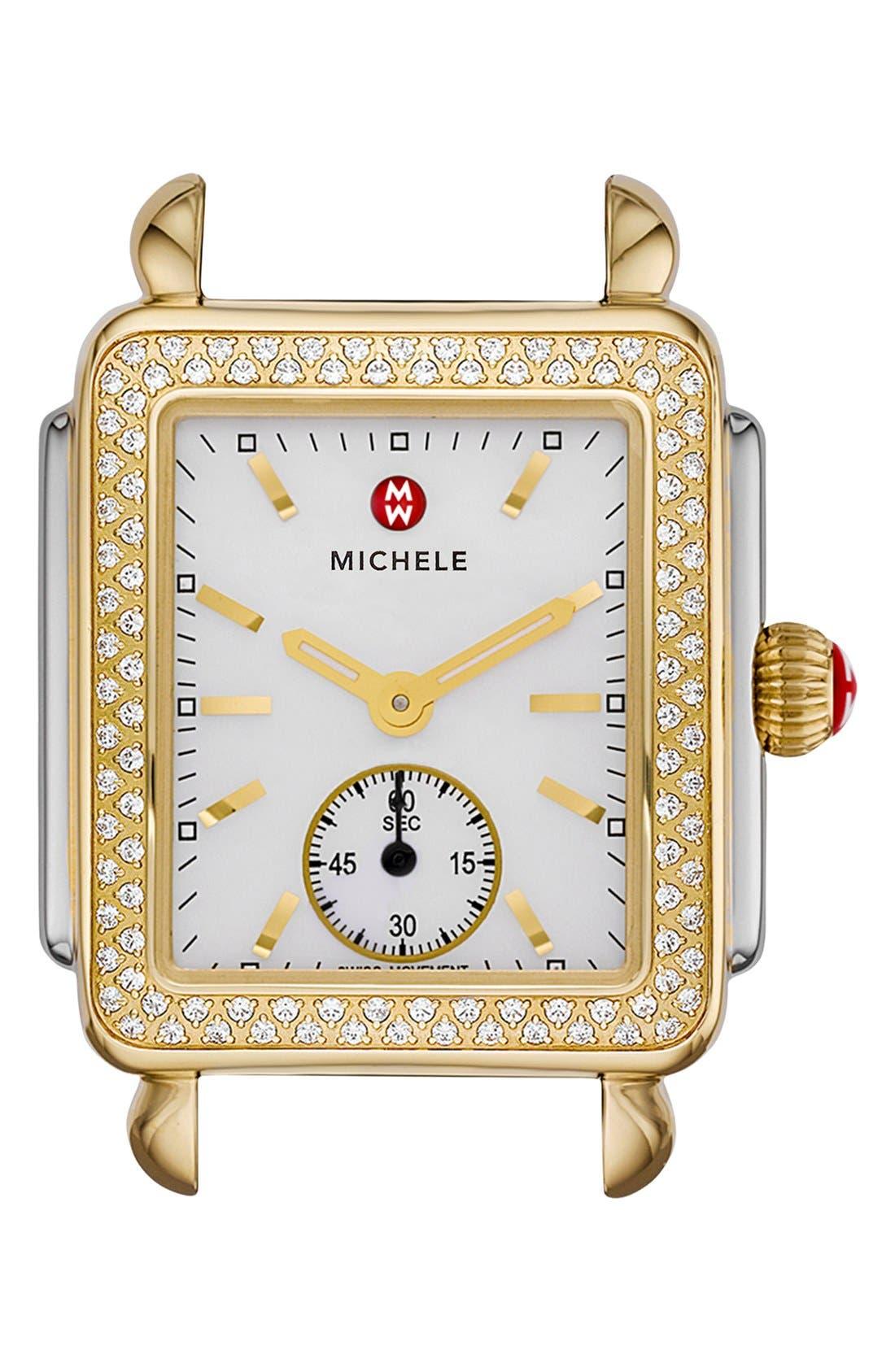 Main Image - MICHELE Deco 16 Diamond Two-Tone Watch Head, 29mm x 31mm