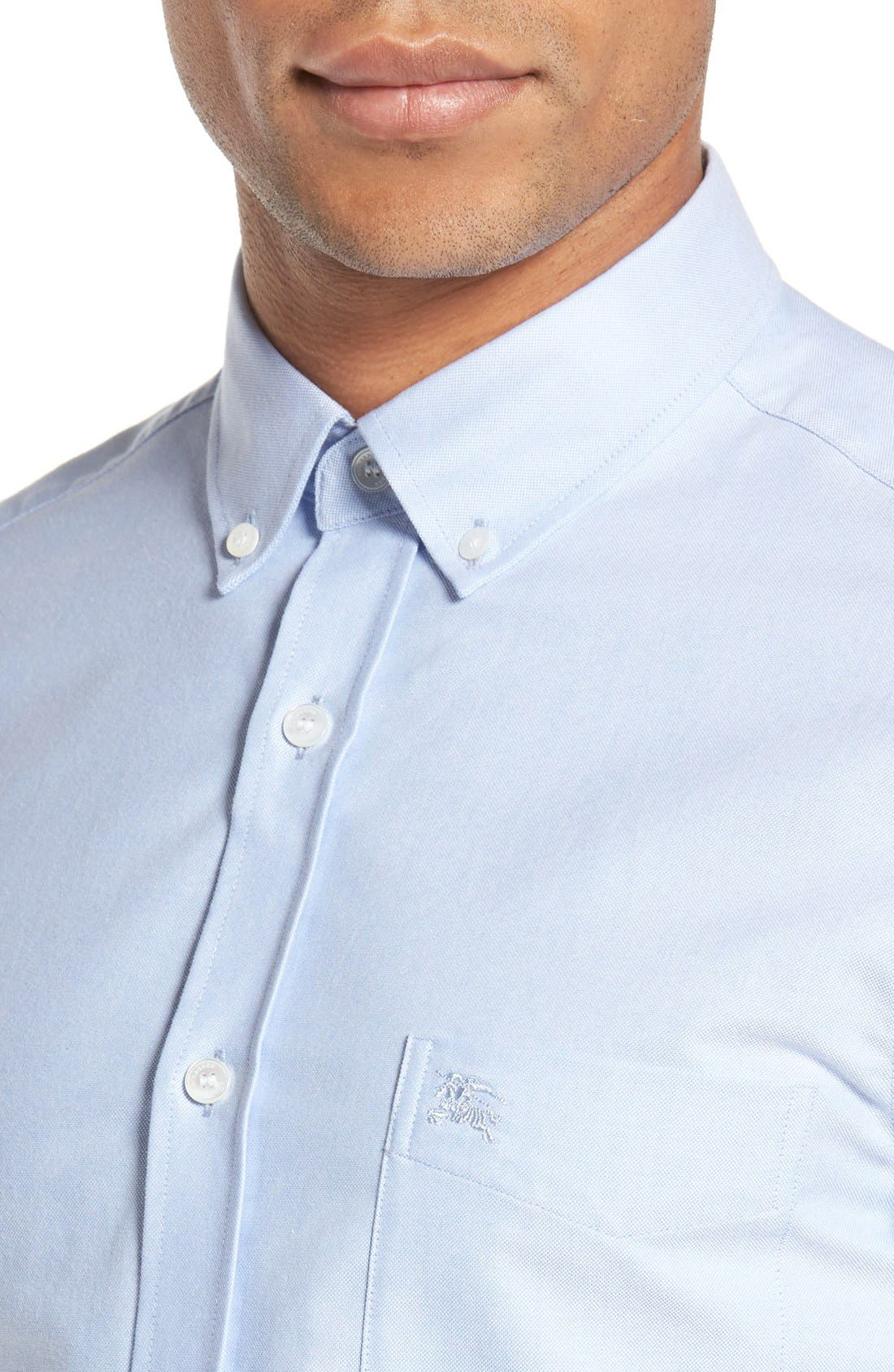 Alternate Image 4  - Burberry 'Reagan' Extra Trim Fit Solid Cotton Sport Shirt