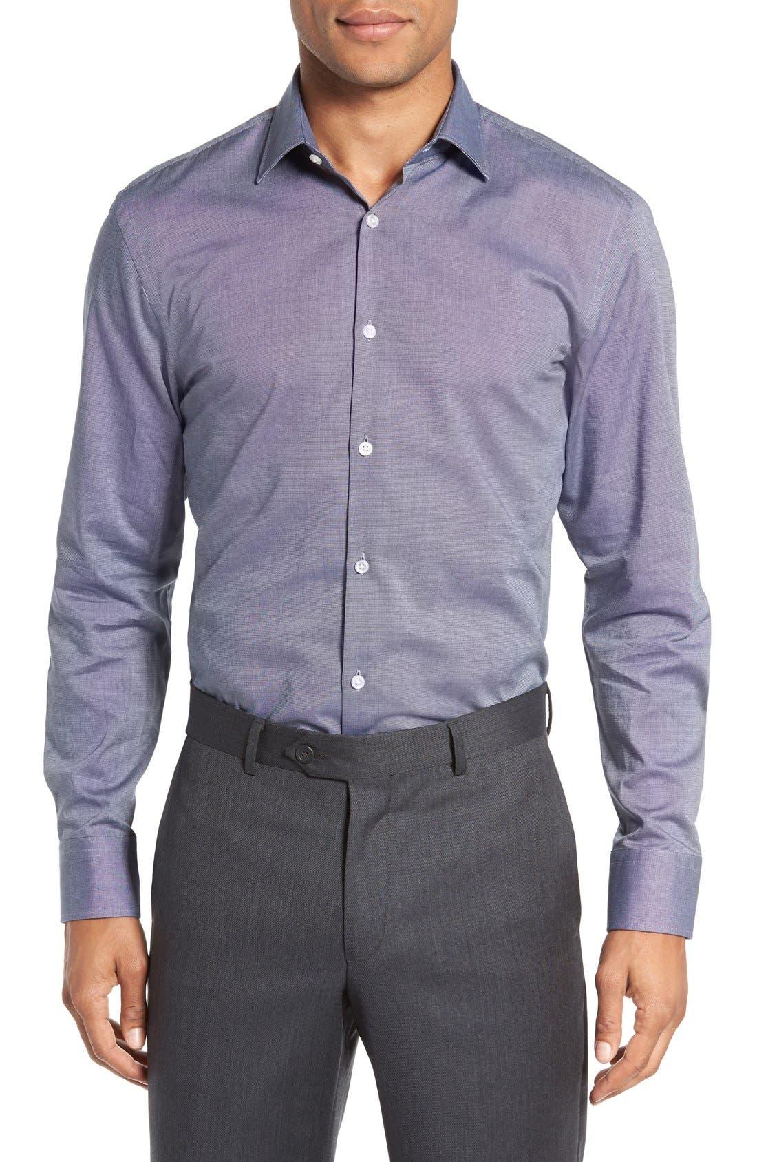 Alternate Image 2  - BOSS Sharp Fit Solid Dress Shirt
